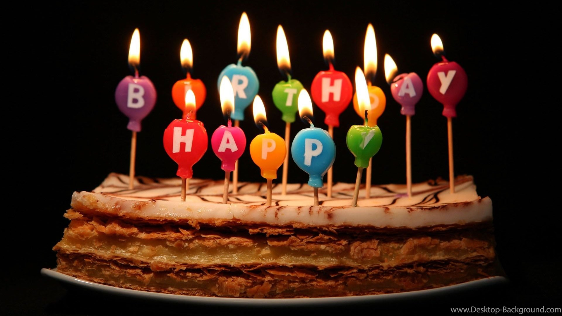 Popular - Happy Birthday Cakes With Candles , HD Wallpaper & Backgrounds