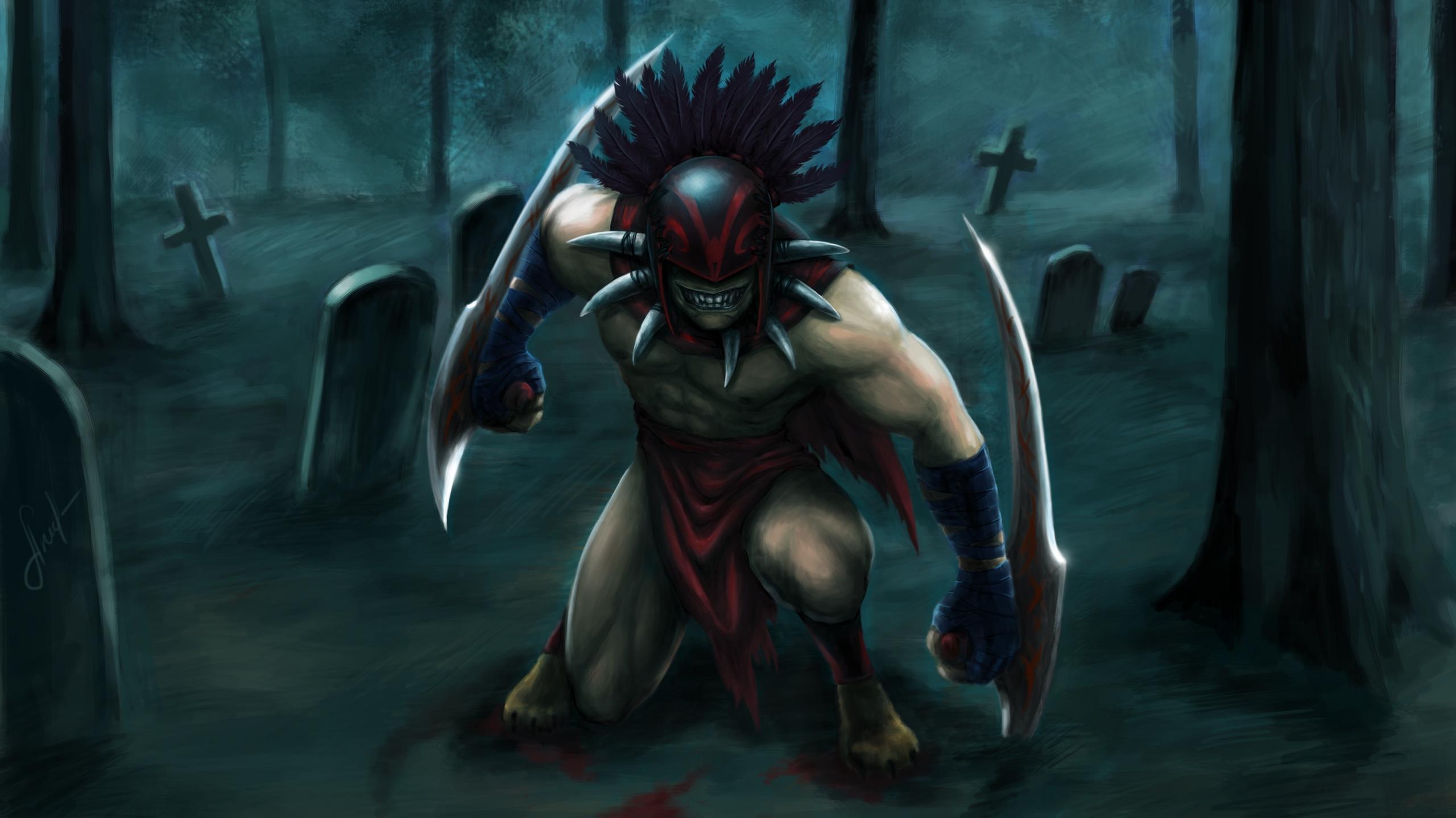 Download Original - Bloodseeker Dota 2 Art , HD Wallpaper & Backgrounds