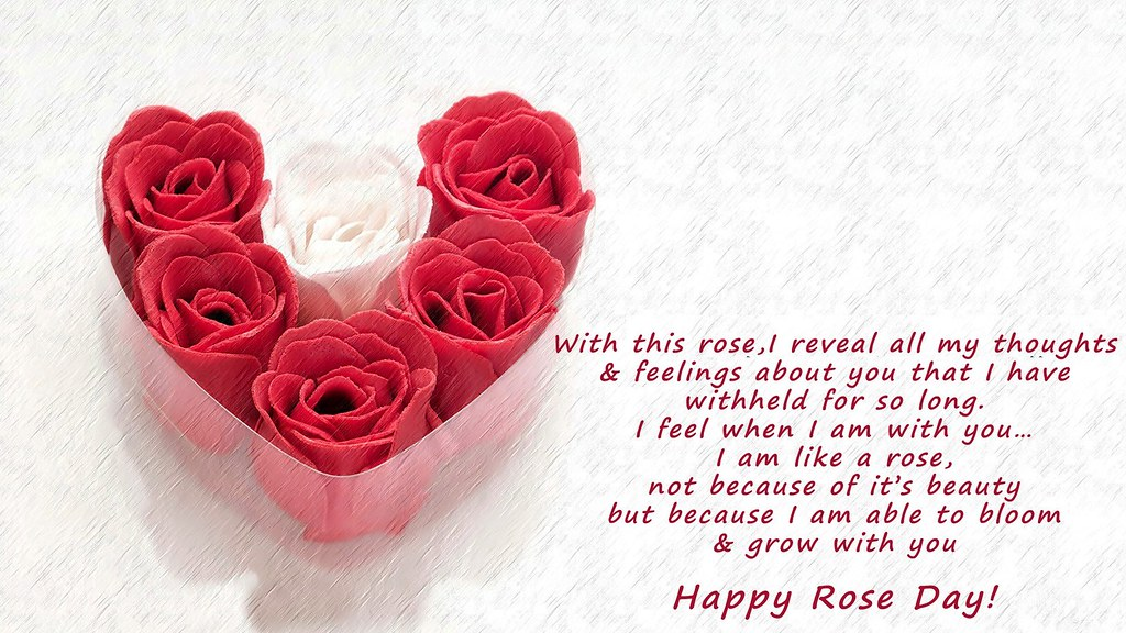 Happy Rose Day Greeting Wish Quote Wallpaper - Love Happy Rose Day , HD Wallpaper & Backgrounds