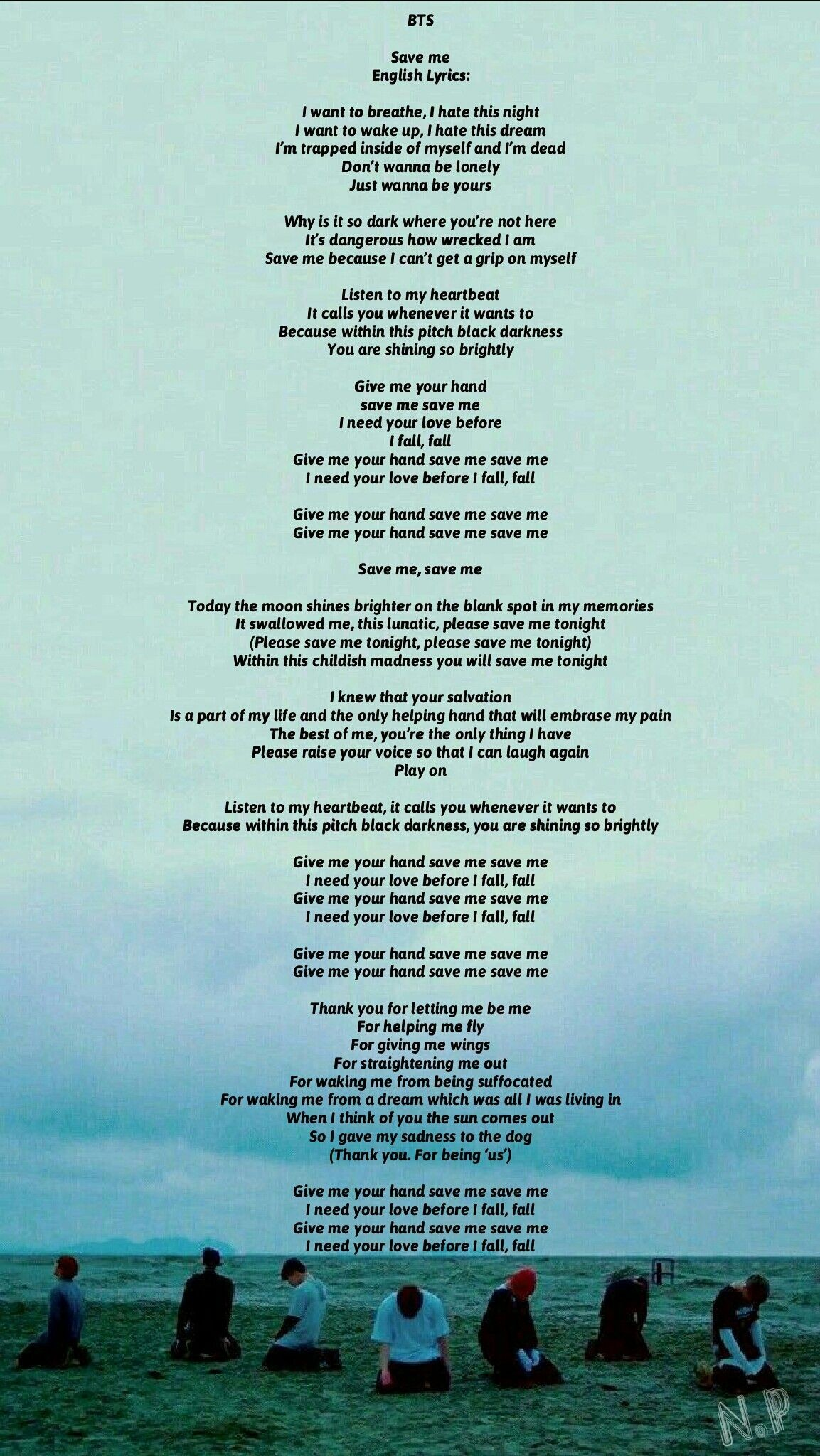 12 Bts Save Me Bts Save Me English Cover Lyrics 599096 Hd