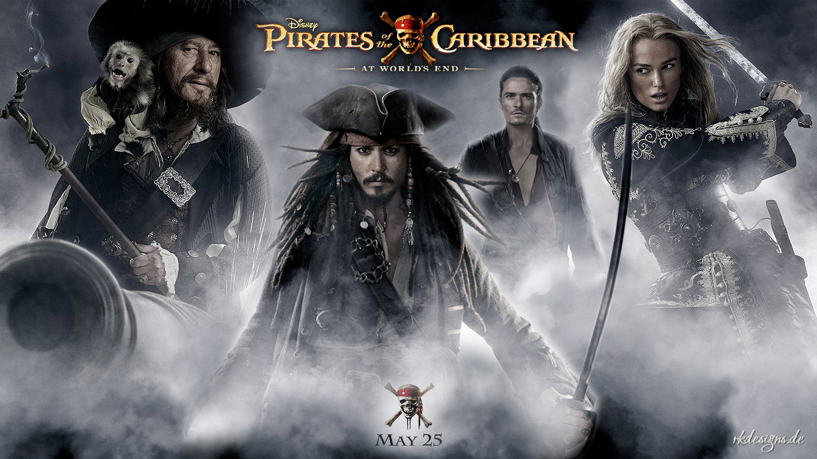 A New, Atmospheric Wallpaper For The Movie Pirates , HD Wallpaper & Backgrounds