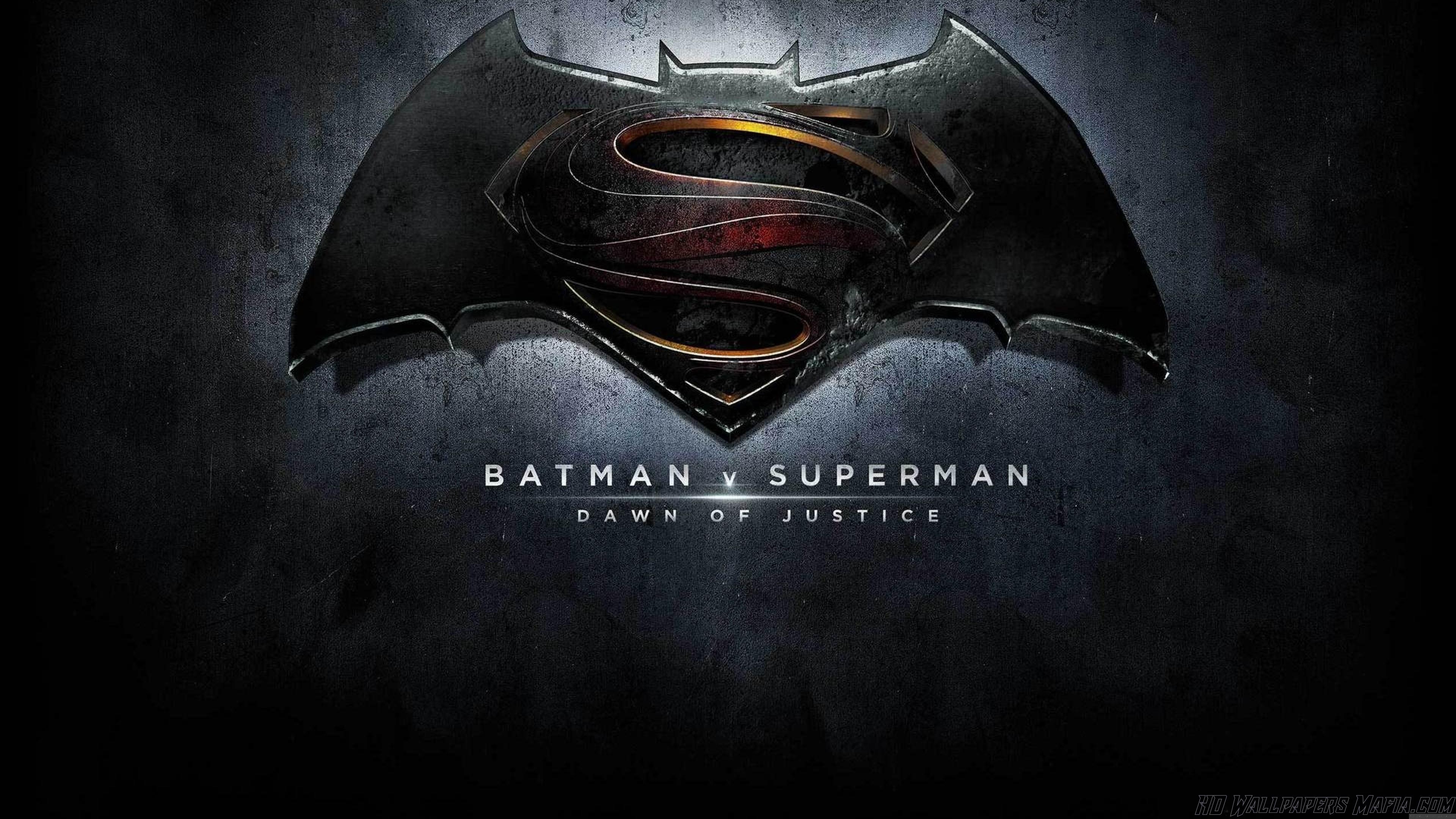 Batman Vs Superman Wallpaper Batman Vs Superman Logo 4k