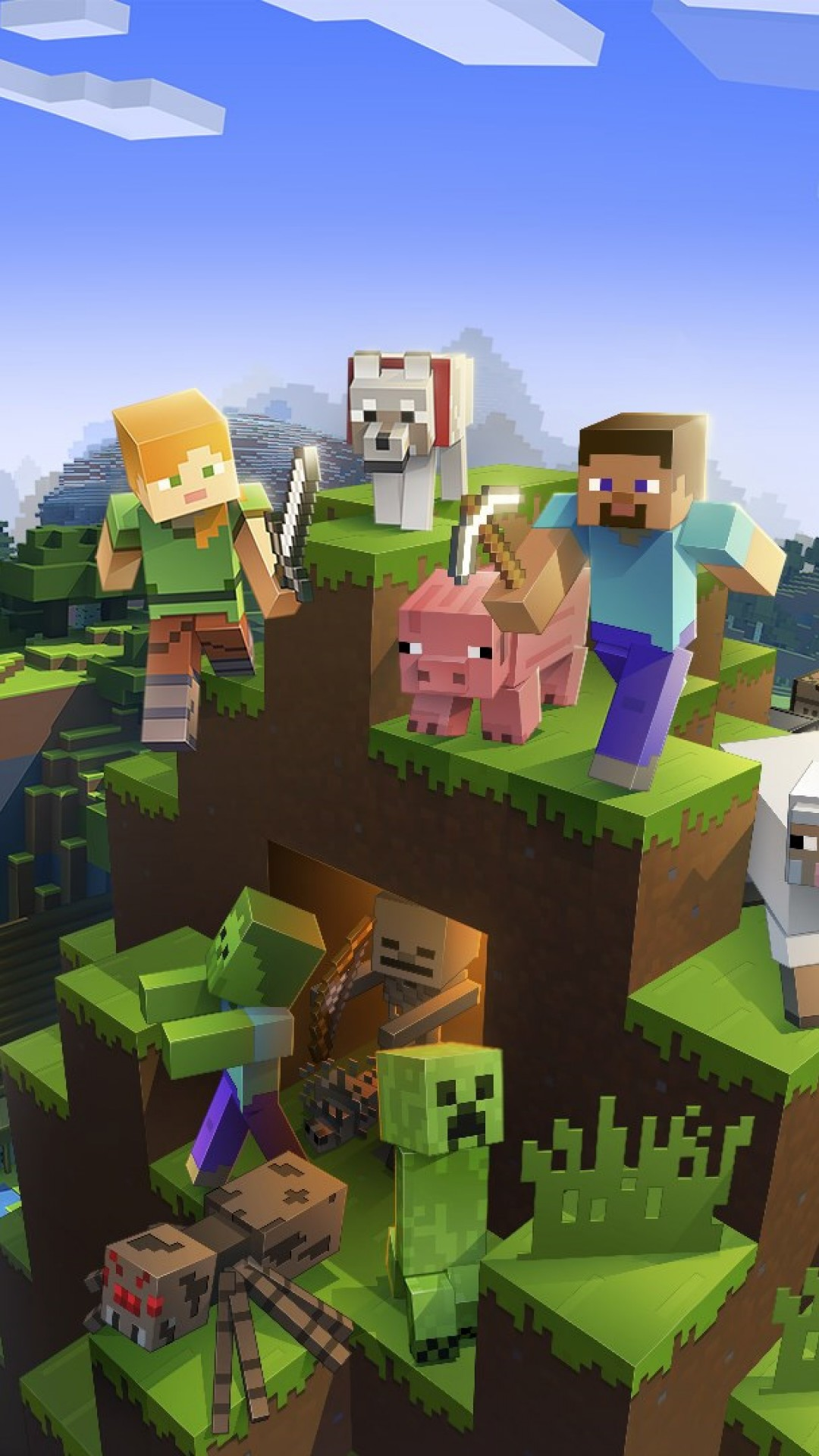 Google Android - Iphone Minecraft , HD Wallpaper & Backgrounds