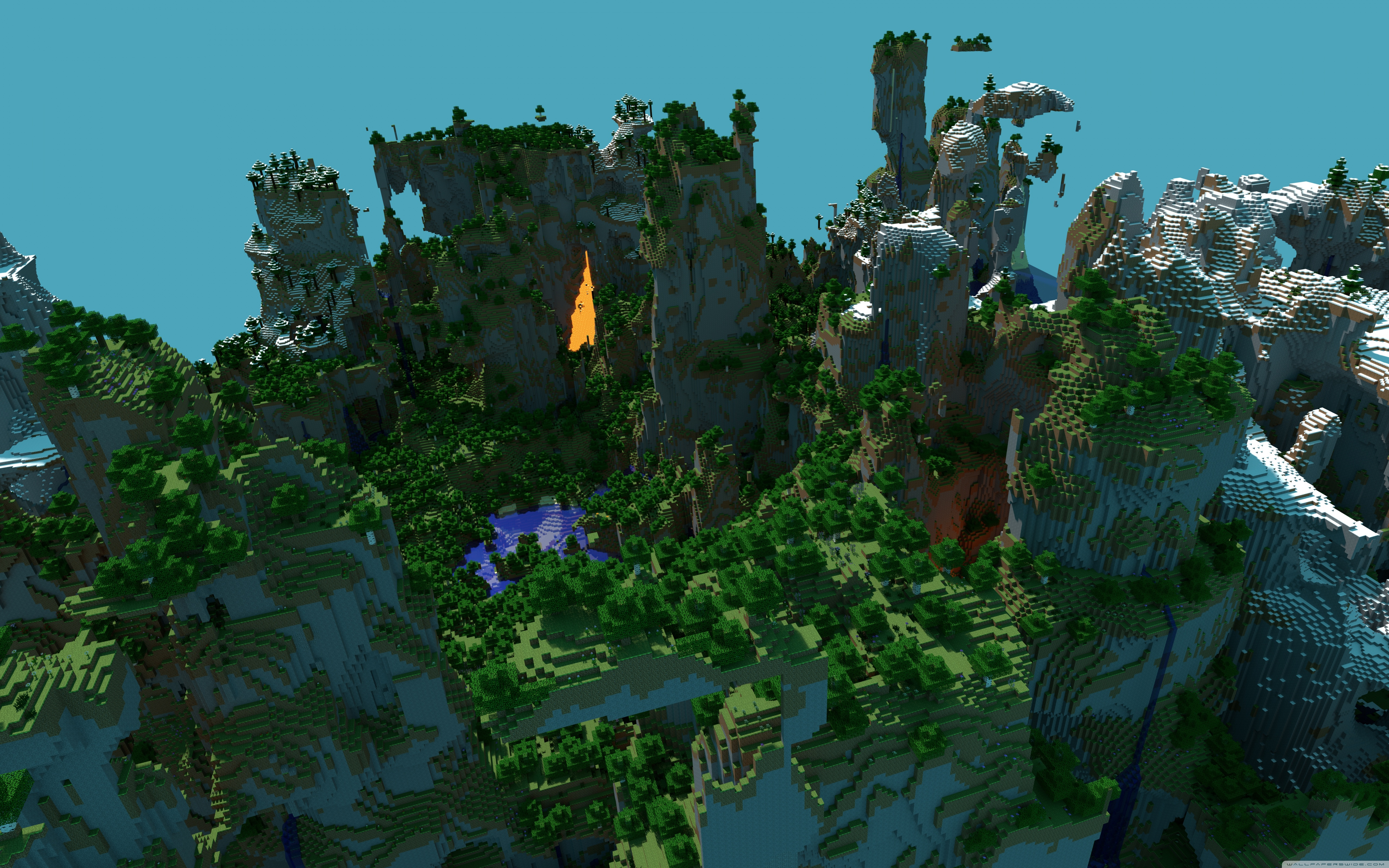 Wide Minecraft Wallpaper 4k 61675 Hd Wallpaper Backgrounds Download