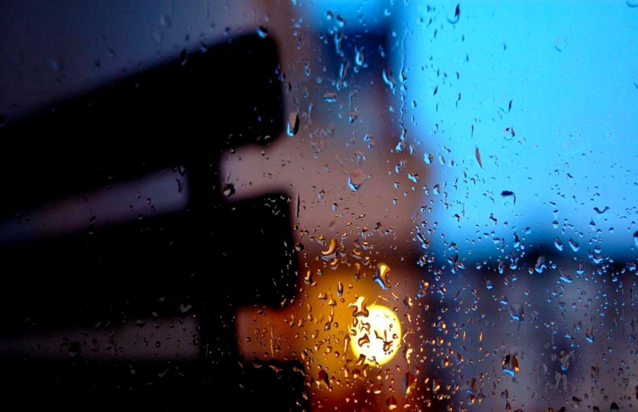 Bokeh Rain Water Drops Nature Live Wallpaper Android اولین باران