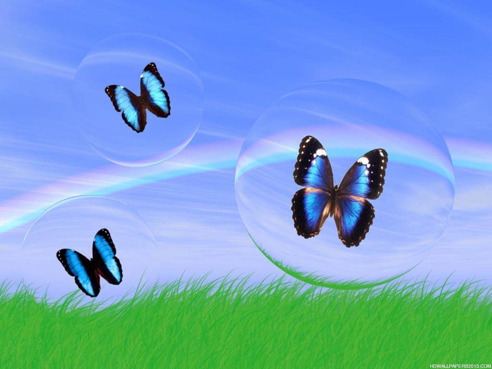 3d Butterfly Wallpaper - Butterfly In A Bubble , HD Wallpaper & Backgrounds