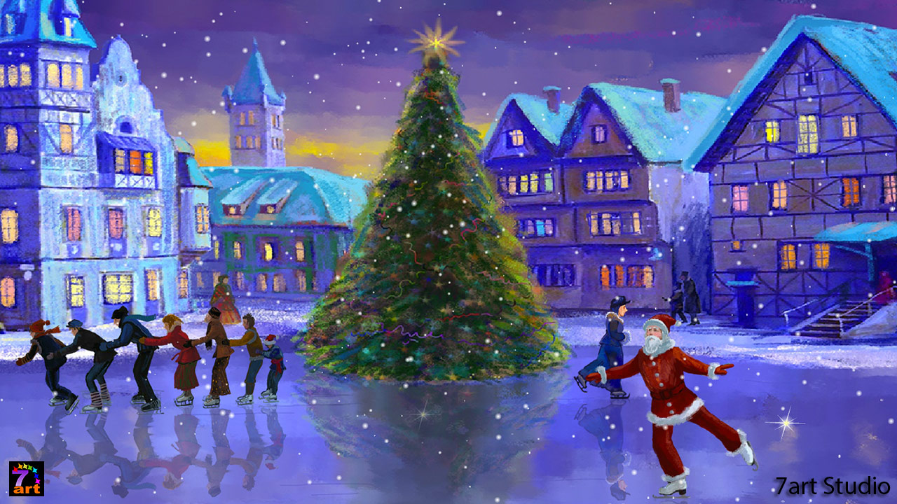 Christmas Rink Screensaver - Merry Christmas Pic Latest , HD Wallpaper & Backgrounds