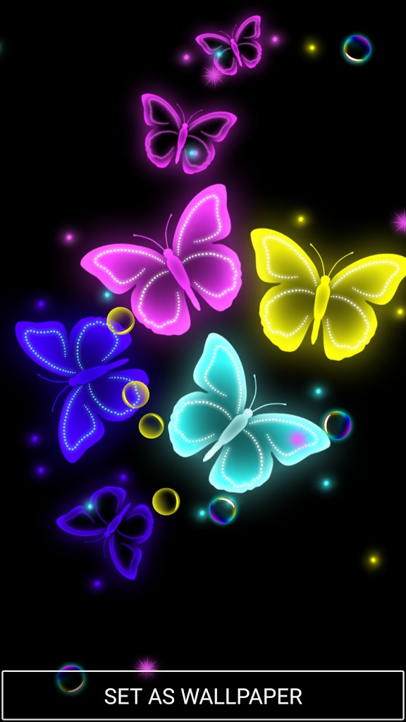 New Neon Butterfly Live Wallpaper Of Fresh Inspirational - Butterfly Live Wallpaper Download , HD Wallpaper & Backgrounds
