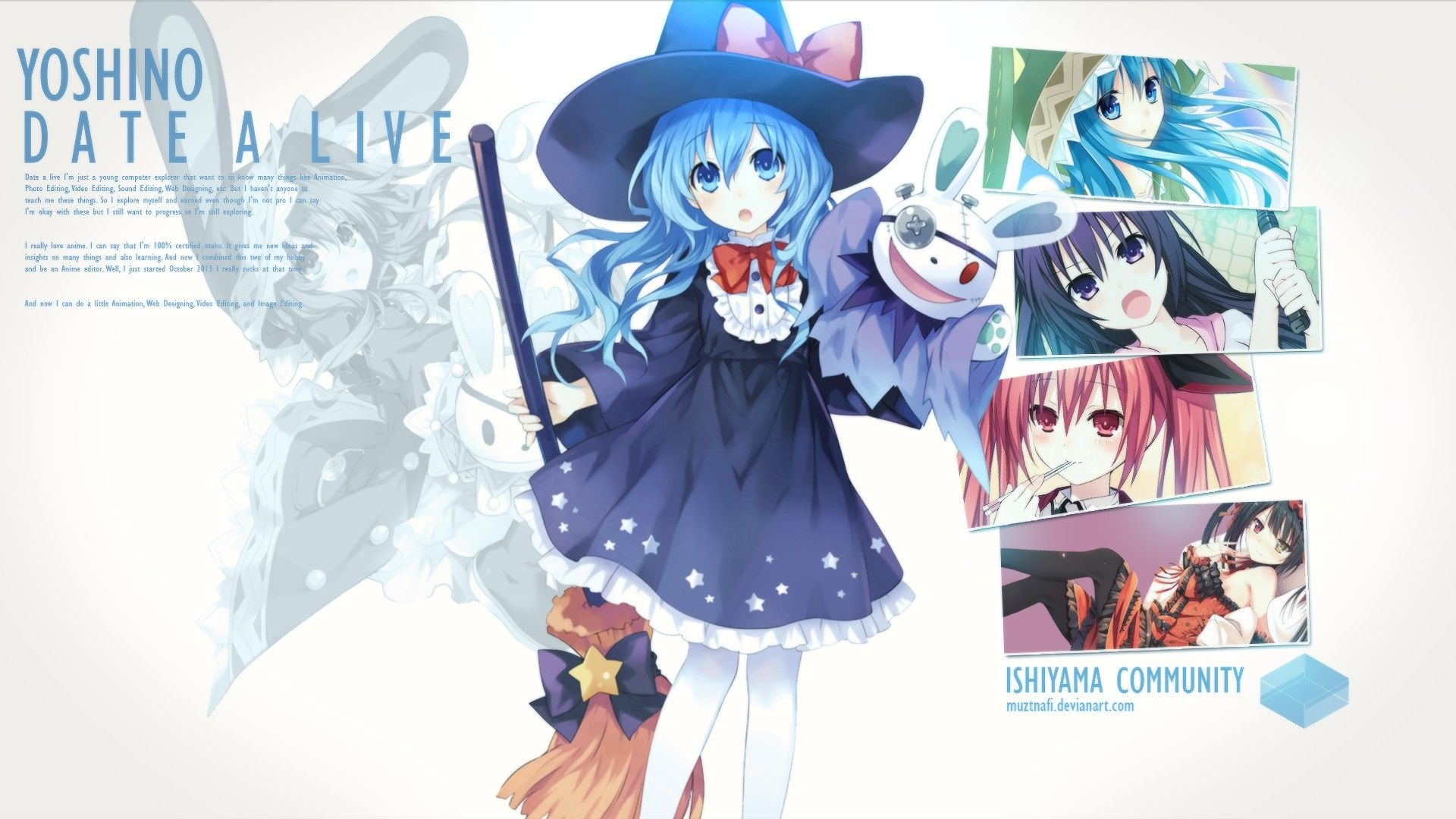 Free Anime Live Wallpaper Date A Live Yoshino Fanart 63241