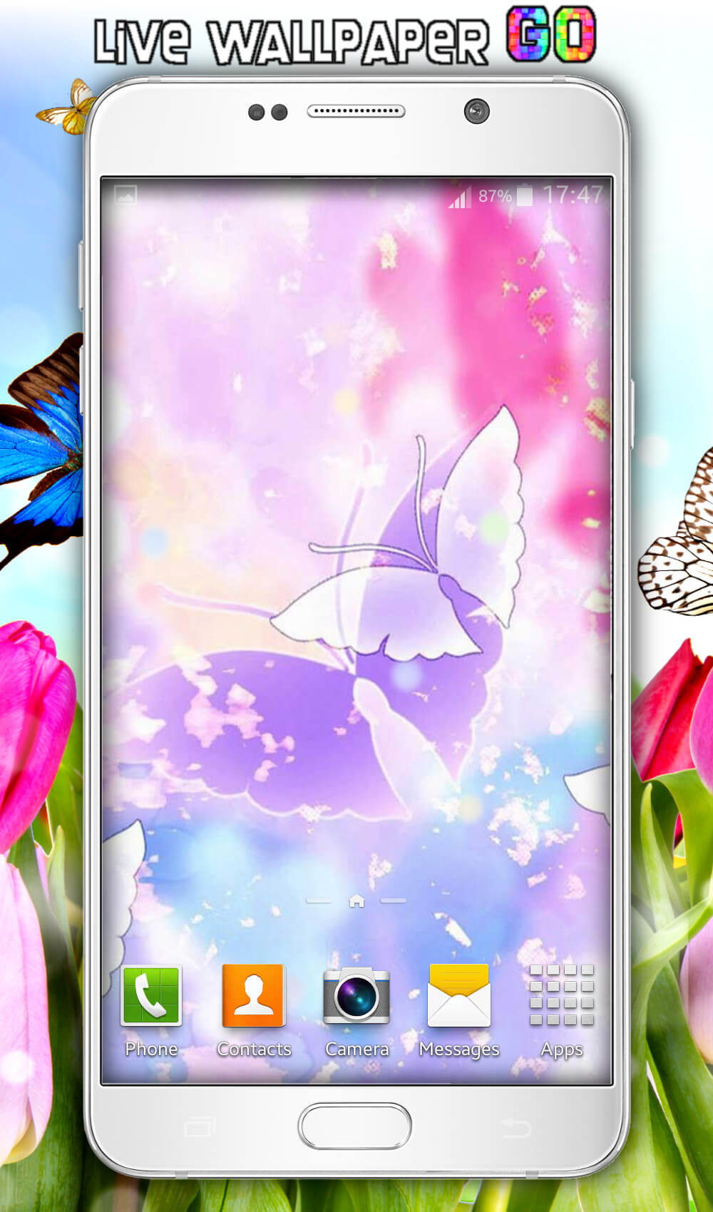 [ Img] [ Img] - Clip Art Flowers And Butterflies , HD Wallpaper & Backgrounds