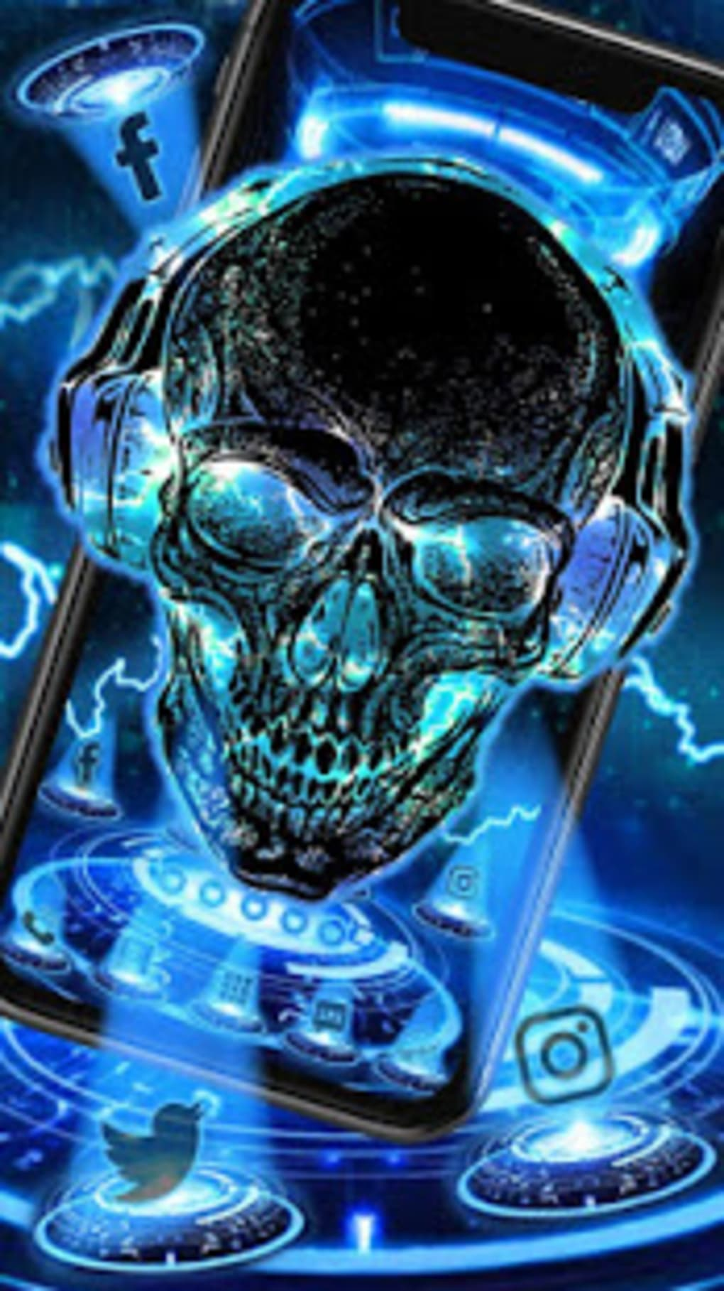 Neon Tech Skull Themes Hd Wallpapers 3d Icons Tech Hd