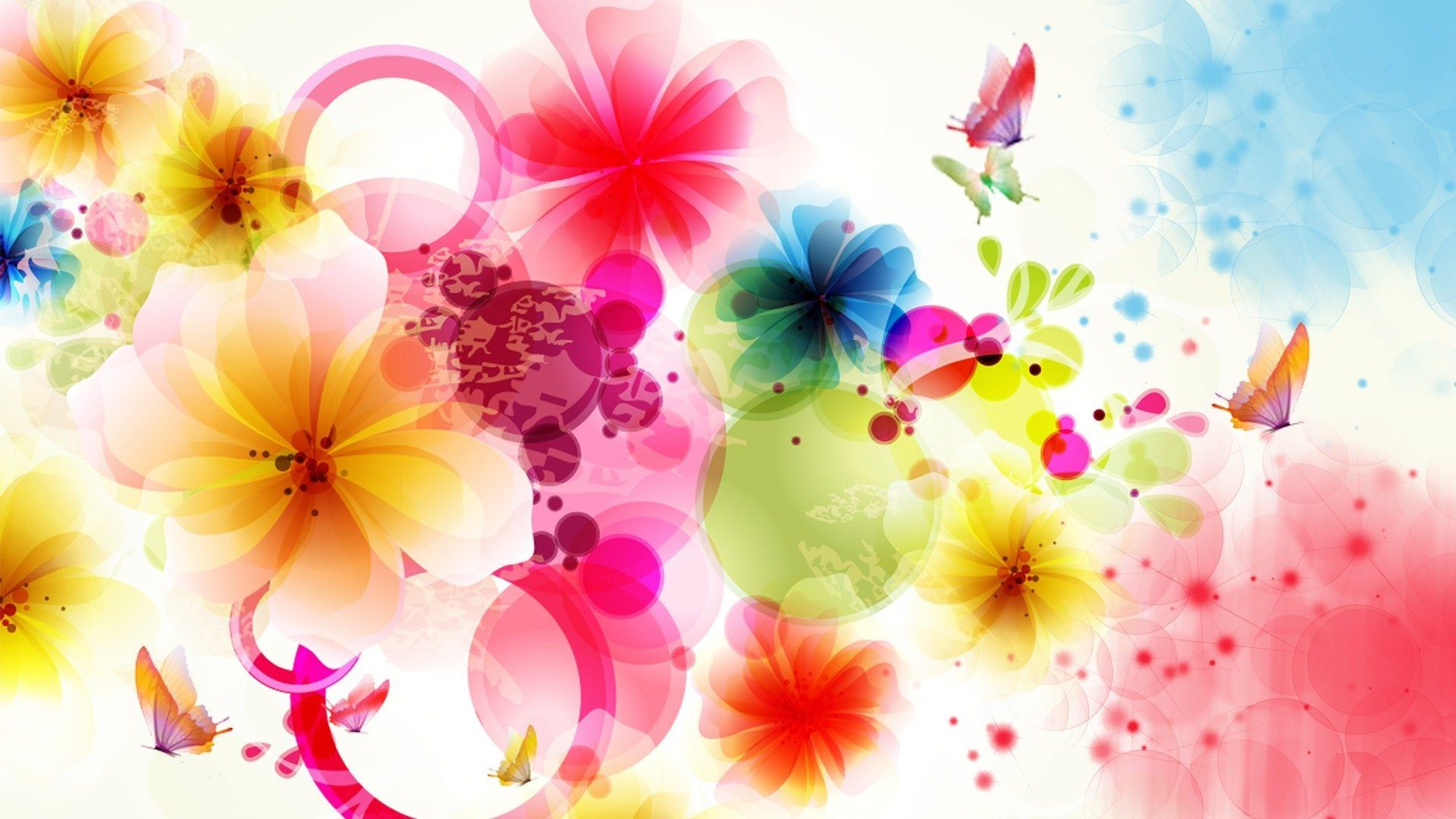 Flower Basket Of Colorful Flowers Wallpapers Flowers - High Quality Flowers And Butterfly , HD Wallpaper & Backgrounds