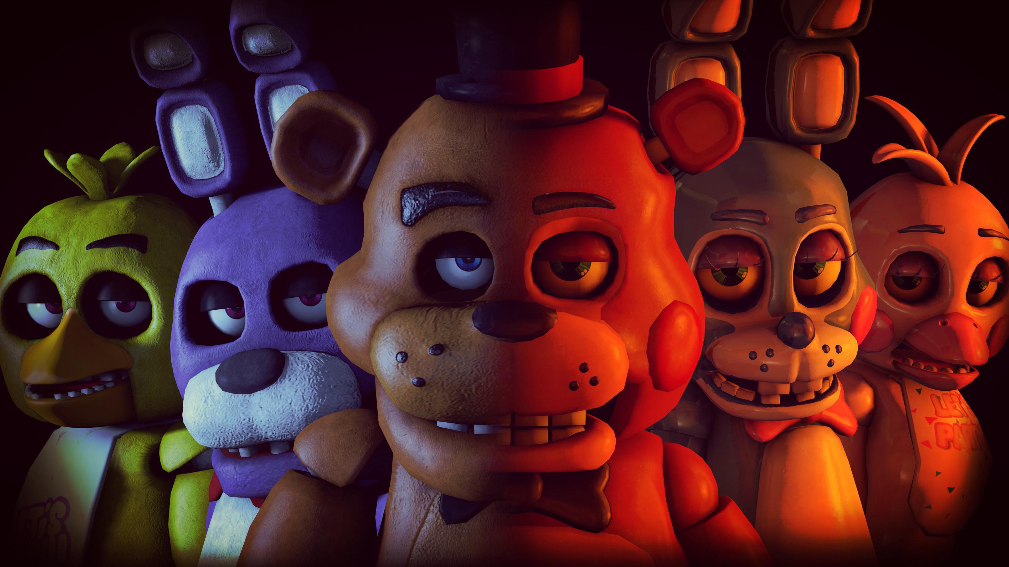 Five Nights At Freddys 2 4k Ultra Hd Wallpaper Fnaf Vr