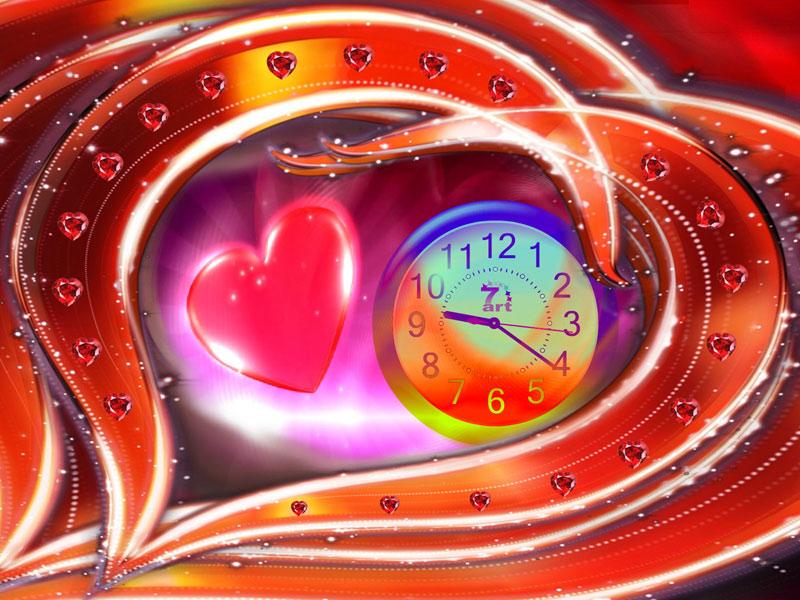 Love Dance Clock Live Wallpaper Screen Saver 3d Love 67327