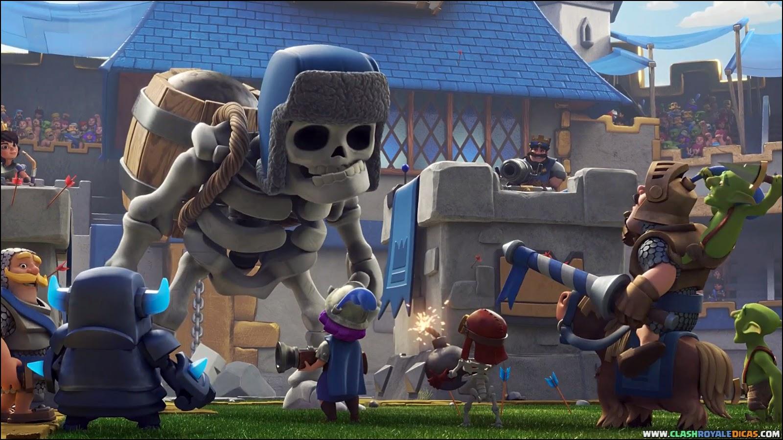 Clash Royale Wallpaper - Clash Royale Esqueleto Gigante , HD Wallpaper & Backgrounds