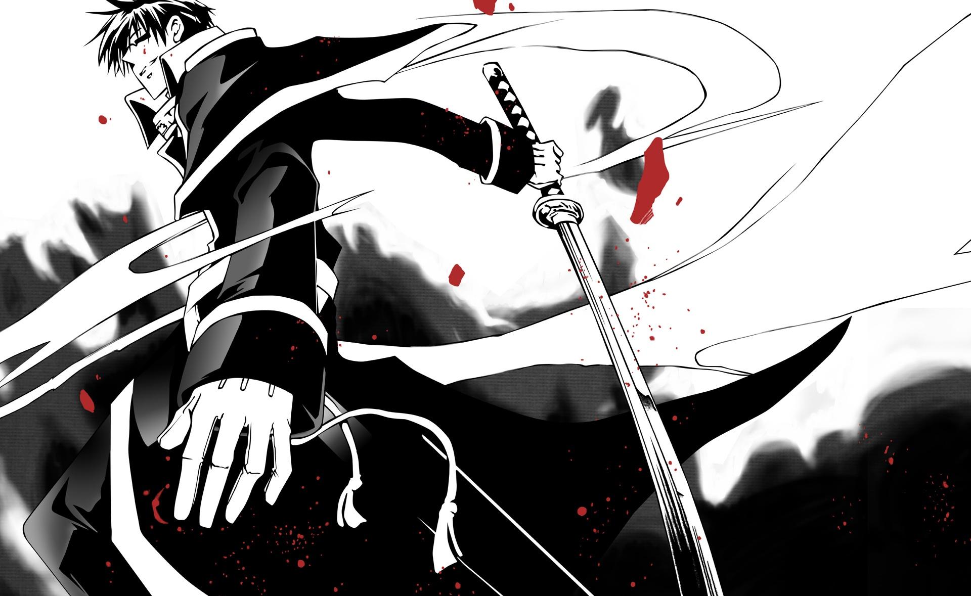 Black And White Swordman Hd Anime Wallpaper Black And White Anime 68080 Hd Wallpaper Backgrounds Download