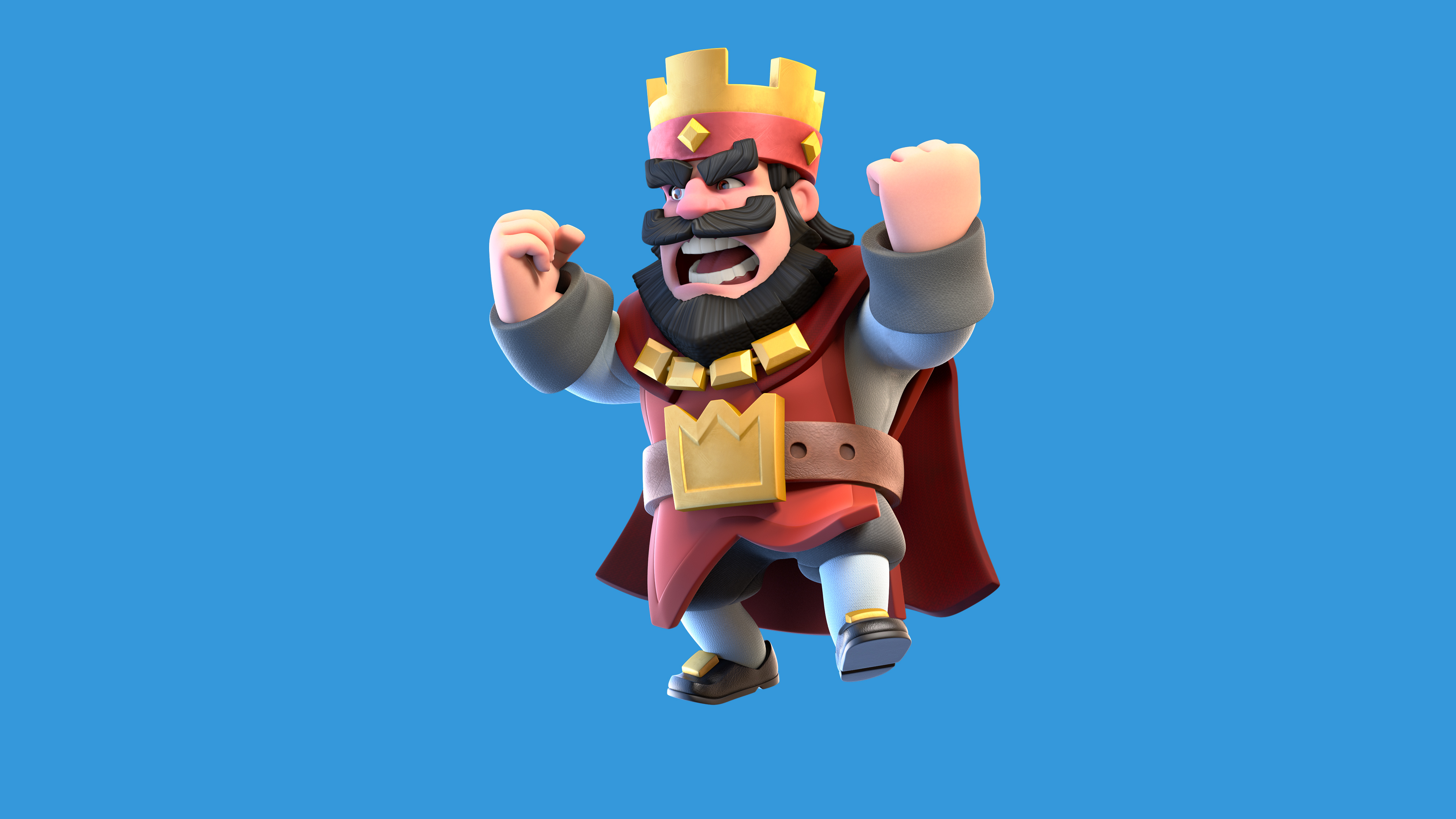 Clash Royale Red King - Clash Royale Hd , HD Wallpaper & Backgrounds
