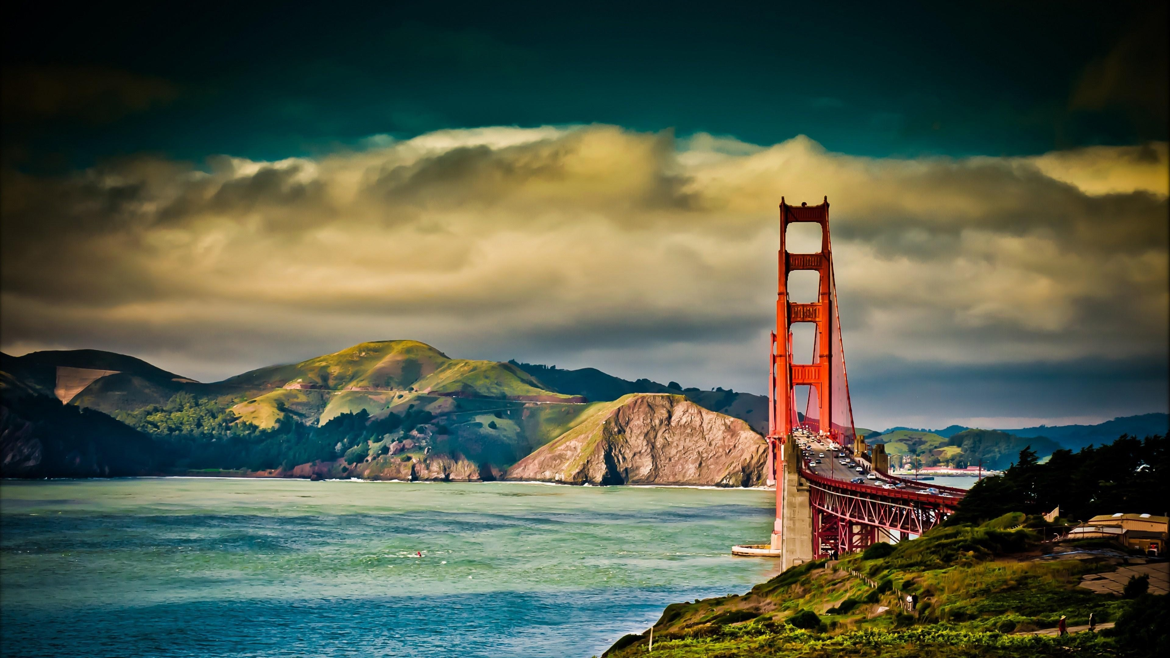 Golden Gate Wallpaper 4k Ultra Hd Collections - 4k Ultra 4k Hintergrundbilder , HD Wallpaper & Backgrounds