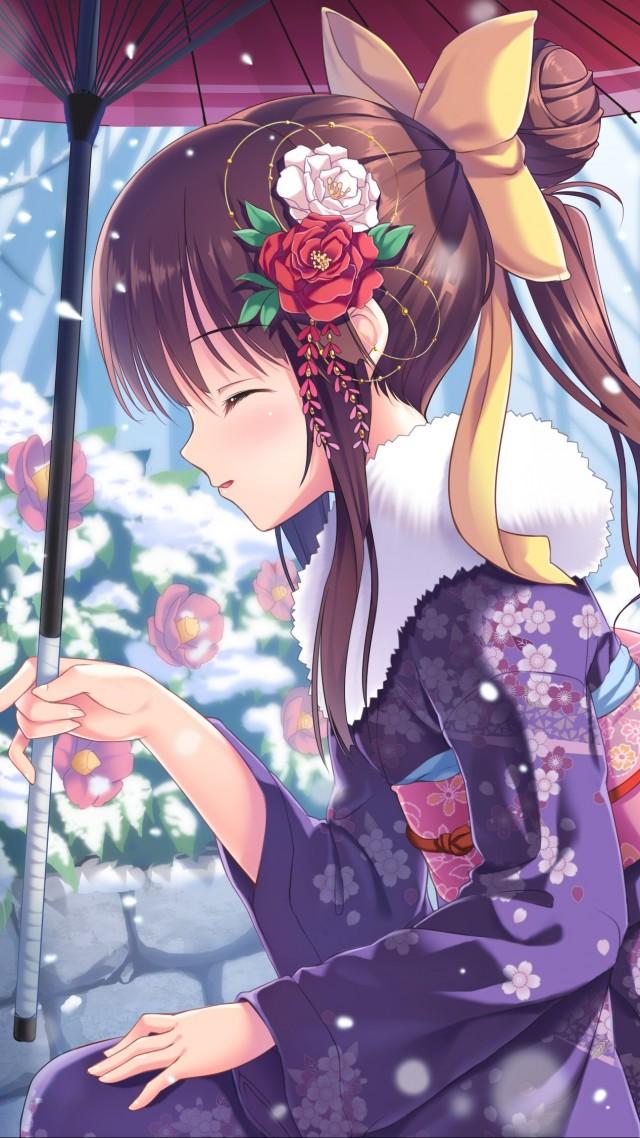 Anime Girl Beauty Winter Rabbits Snow 4k Anime Girl 69867 Hd Wallpaper Backgrounds Download