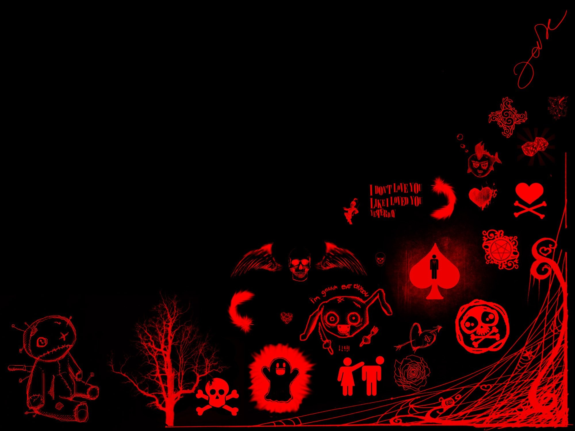 Red Emo Wallpapers Cool Black And Red Wallpaper Hd Android