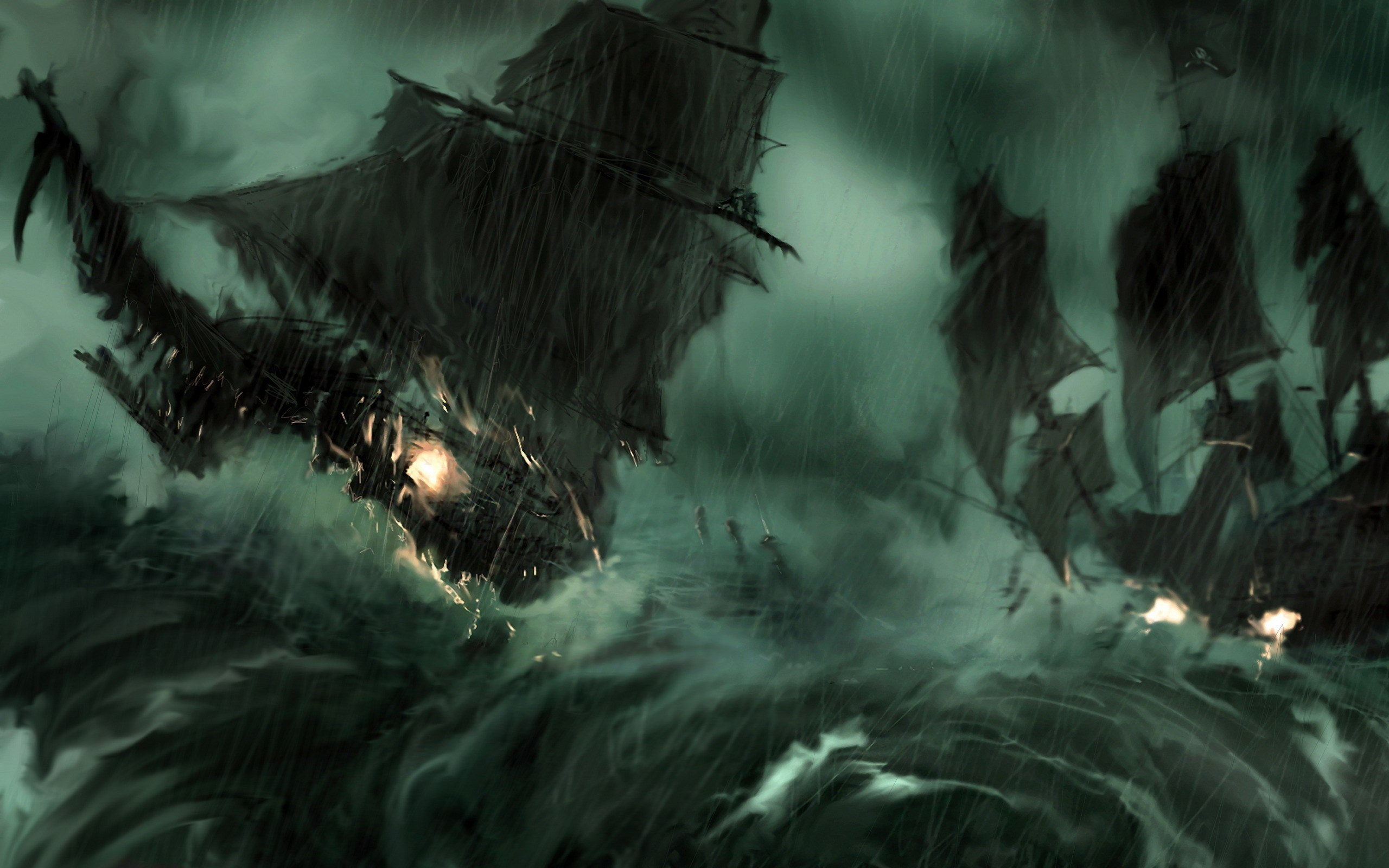 Davy Jones Wallpapers 77 Images - Epic Pirates Of The Caribbean , HD Wallpaper & Backgrounds
