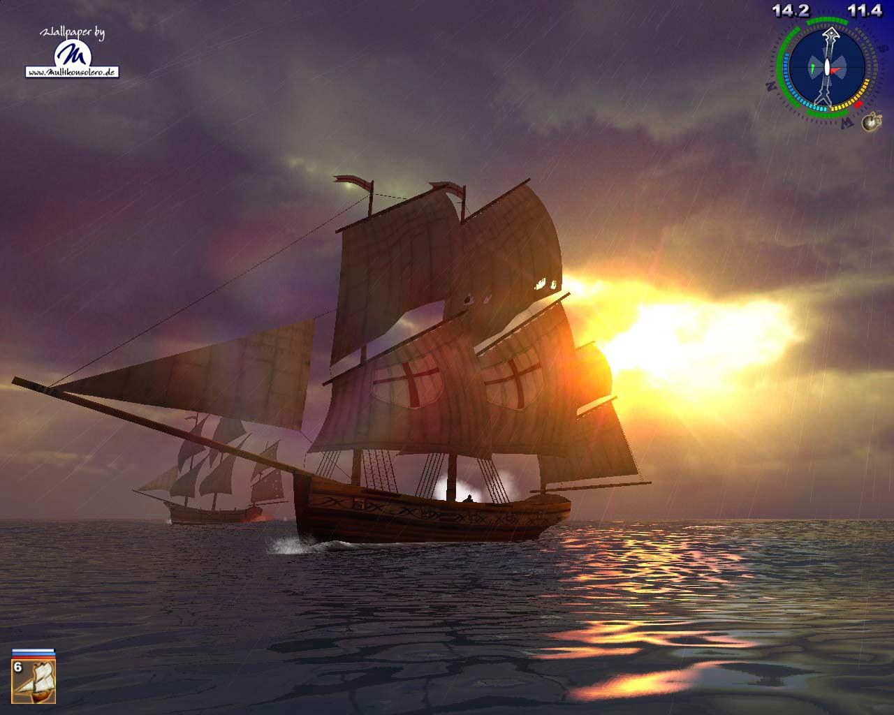 Fluch Der Karibik -wallpaper Link - Sea Dogs 2 Pirates Of The Caribbean , HD Wallpaper & Backgrounds