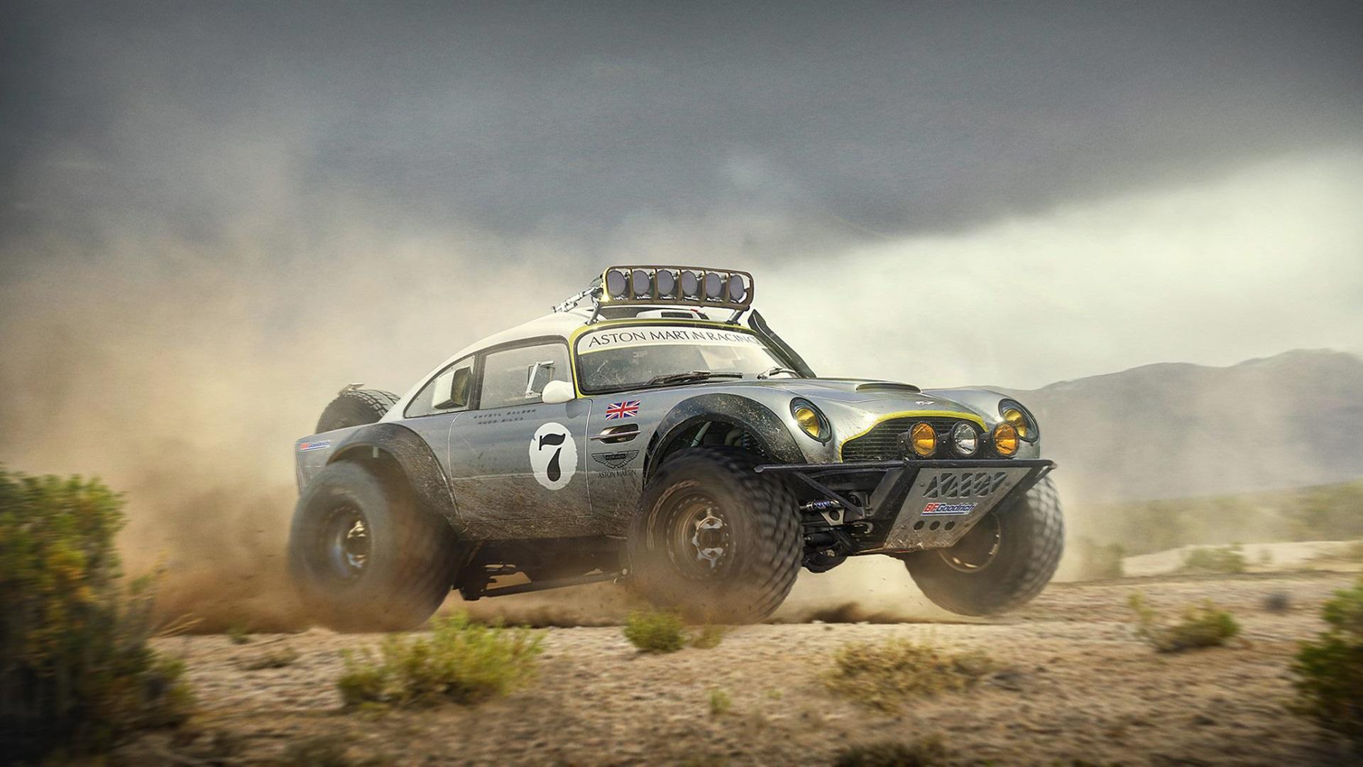 Aston Martin Db5 Off Road Car Dakar Race 4k Uhd Wallpaper