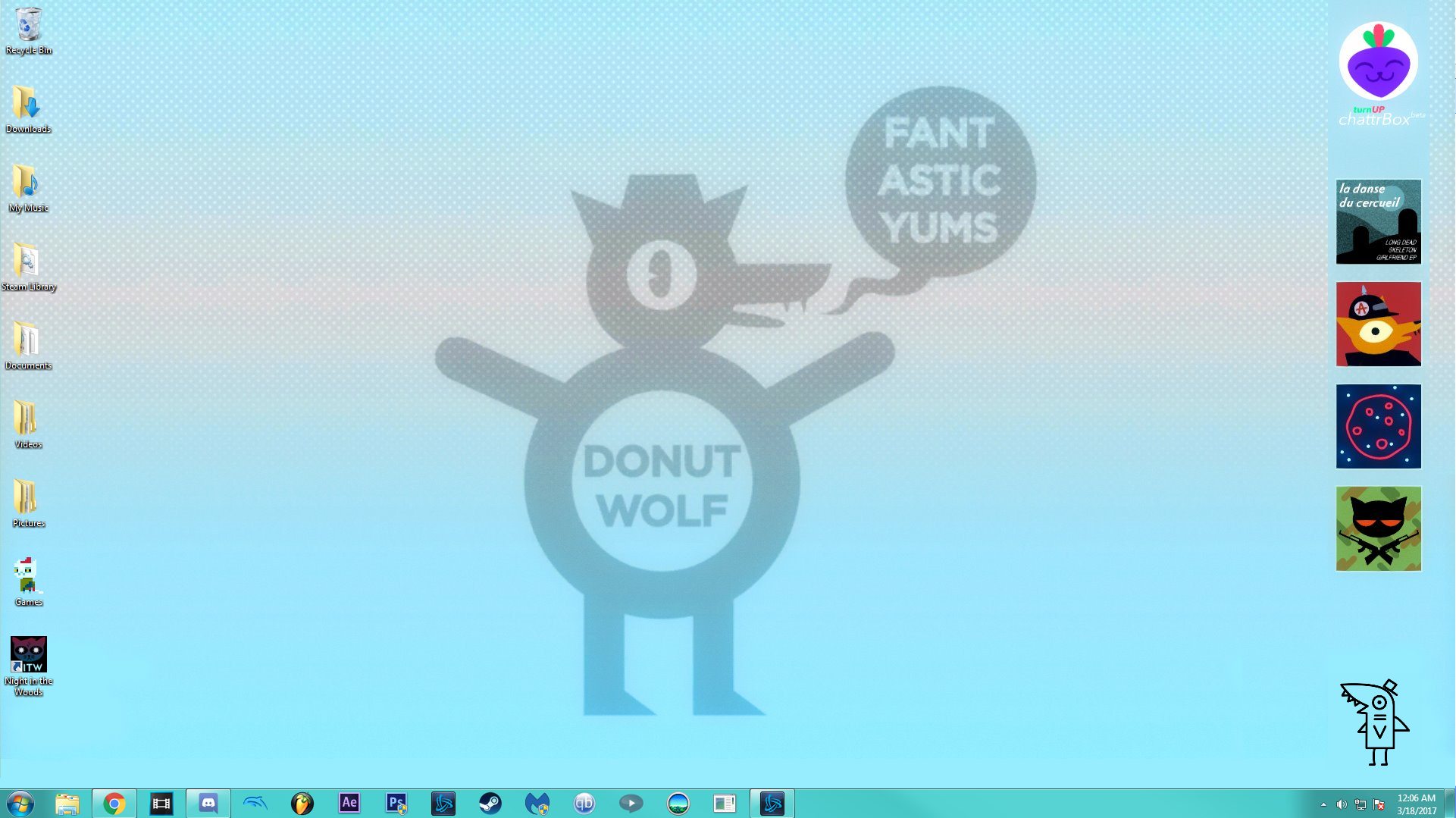Uploaded It To My Drive Here Donut Wolf Night In The Woods