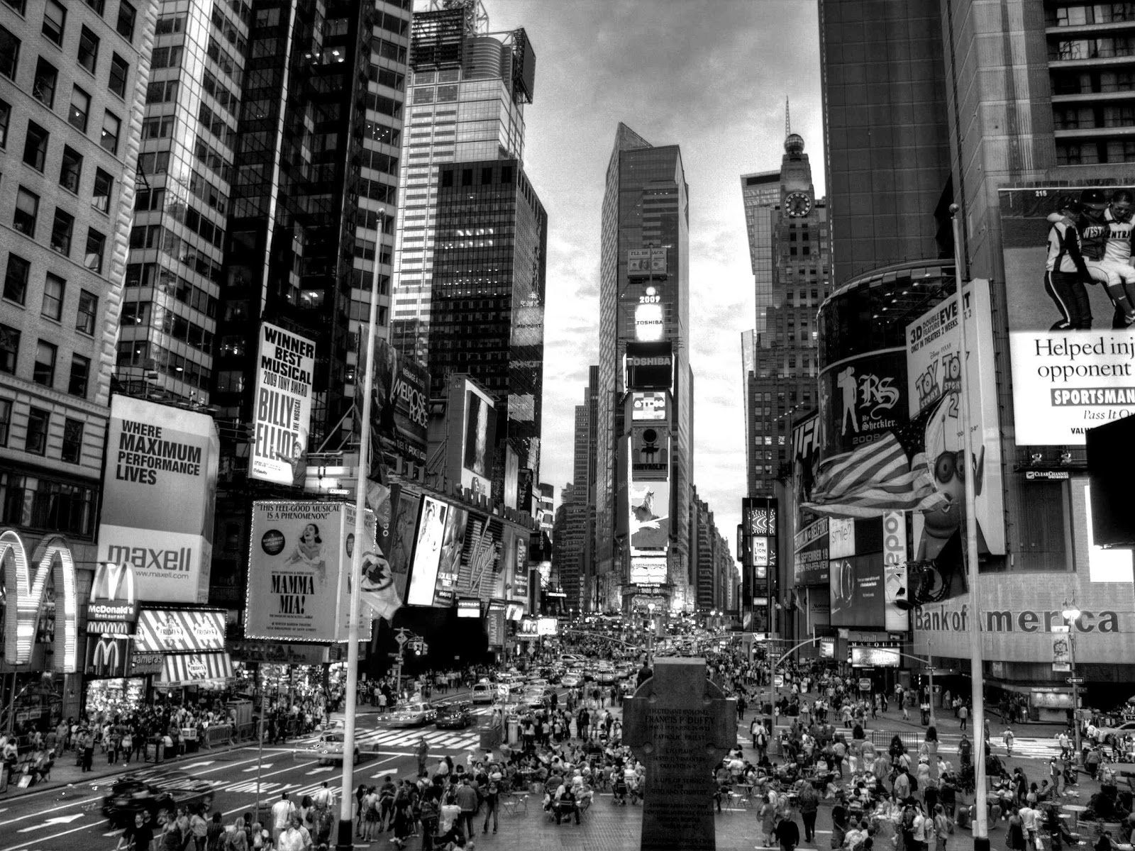 Time Square Wallpaper Black And White Times Square 604522
