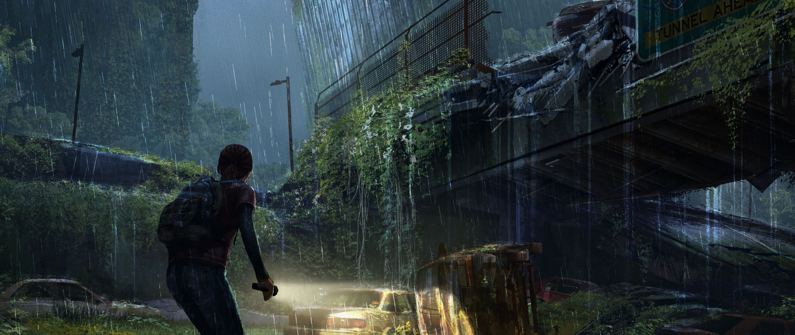 Wallpaper The Last Of Us Apocalypse Girl City Night 608201
