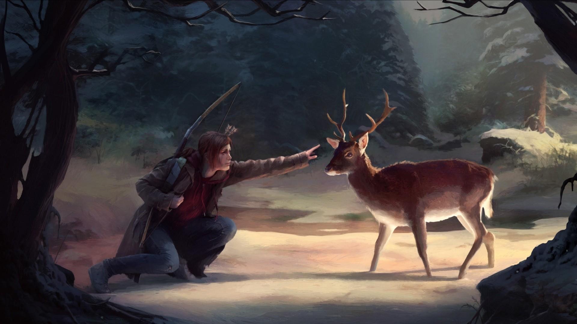 Wallpaper The Last Of Us, Video Game, Deer - Last Of Us 2 Fan Art , HD Wallpaper & Backgrounds
