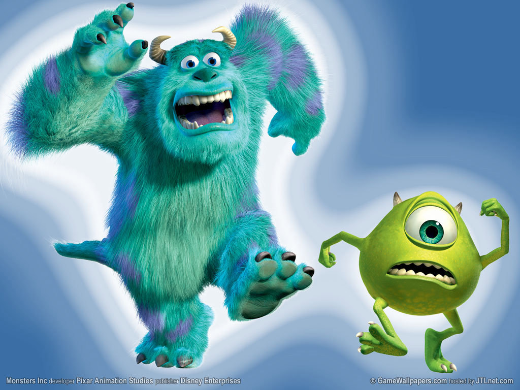 Mike And Sulley - Monsters Inc Boo Sulley Mike , HD Wallpaper & Backgrounds