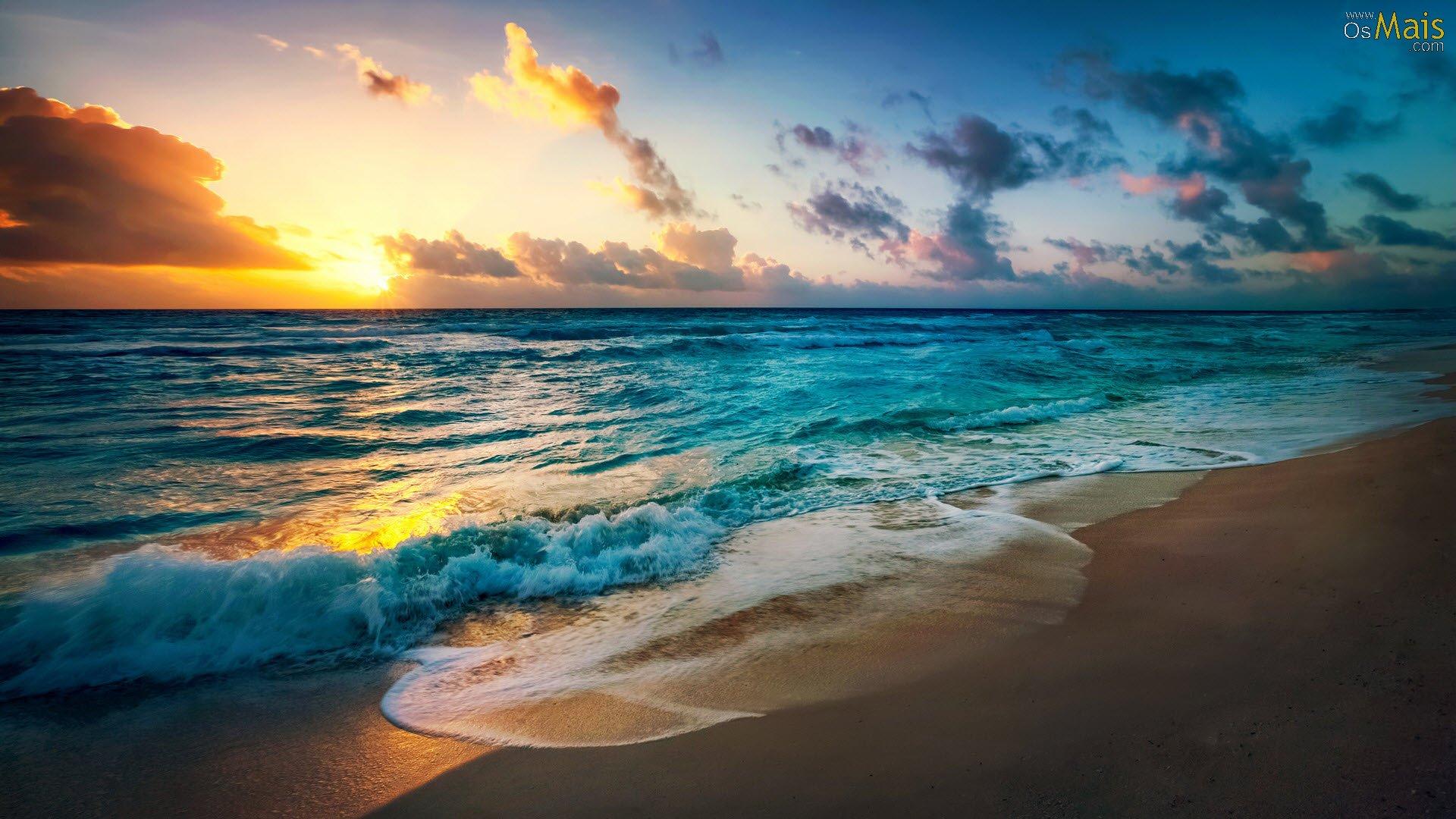 Praia Wallpaper Ocean And Sun 616833 Hd Wallpaper