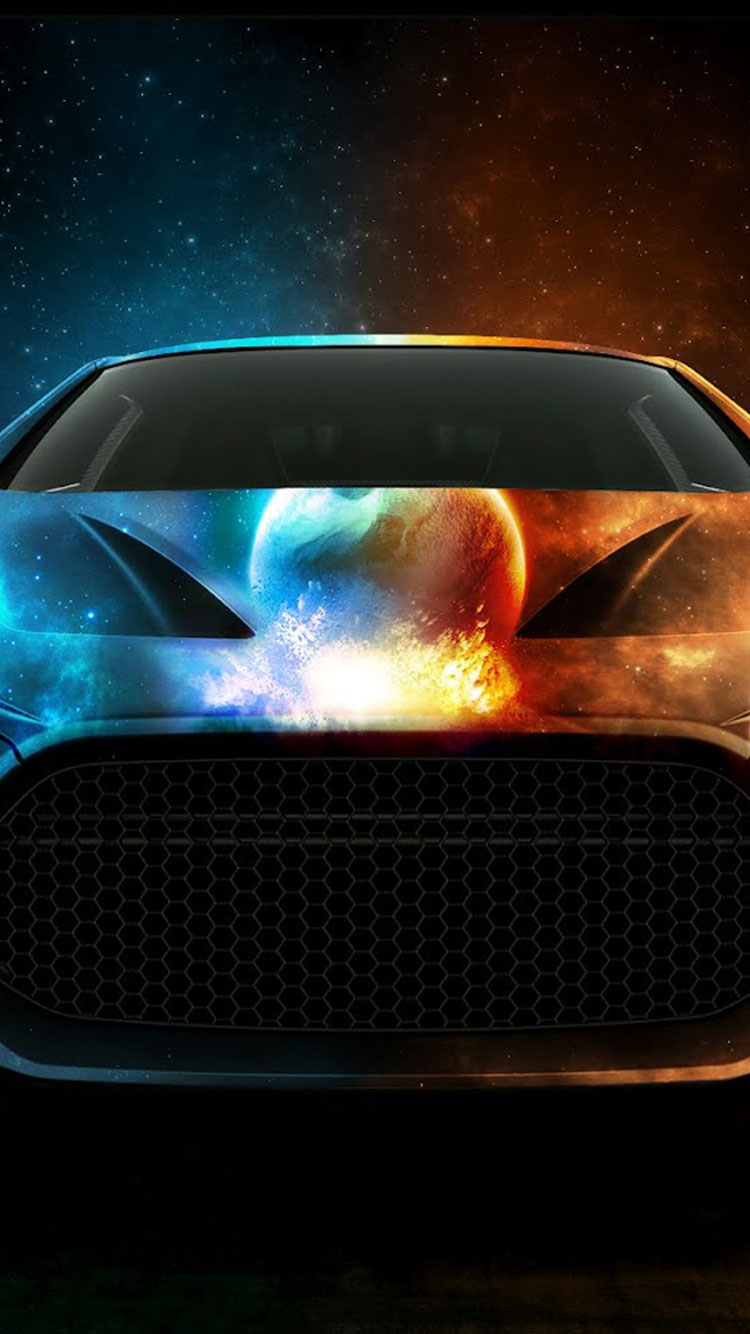 Cool Wallpaper For Iphone - Water Lamborghini And Fire , HD Wallpaper & Backgrounds