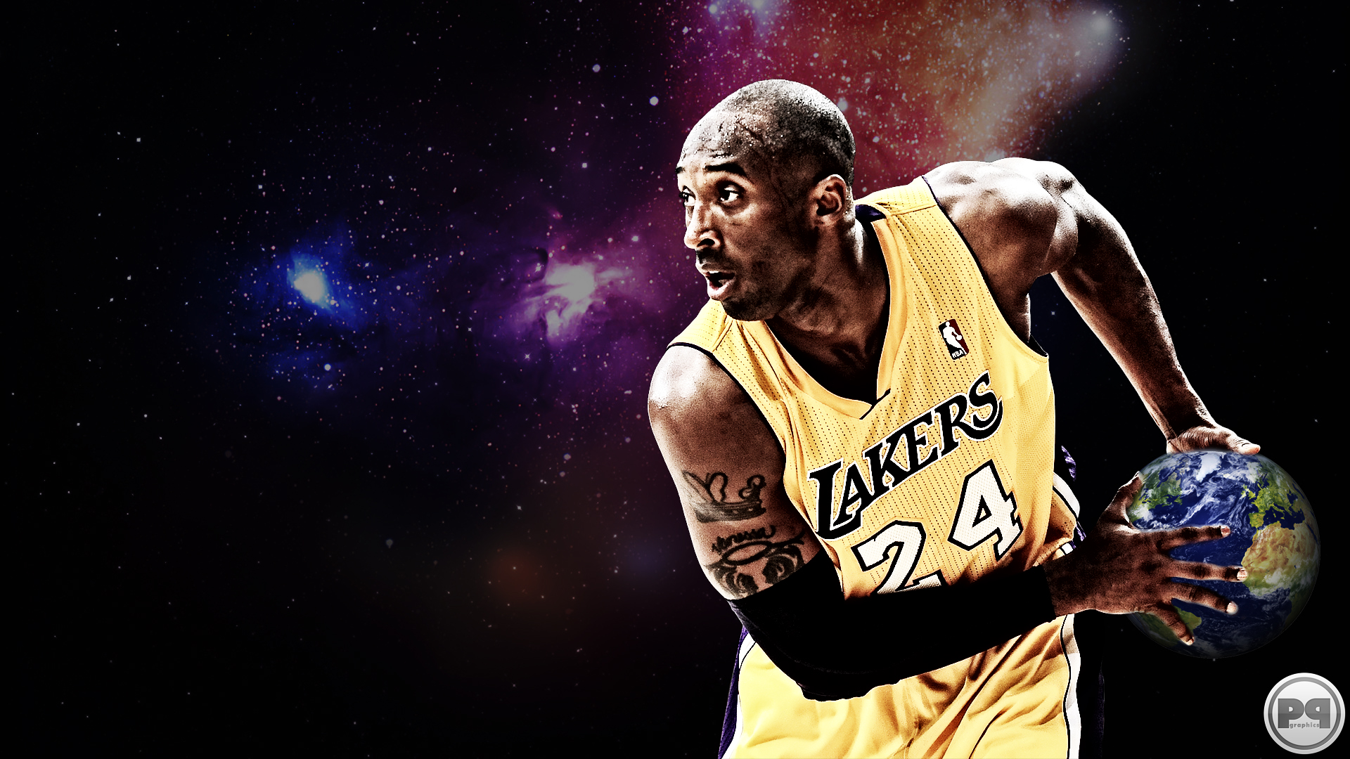 New Nba Kobe Bryant Los Angeles Lakers Basketball By - Jogador Kobe Los Angeles Lakers , HD Wallpaper & Backgrounds