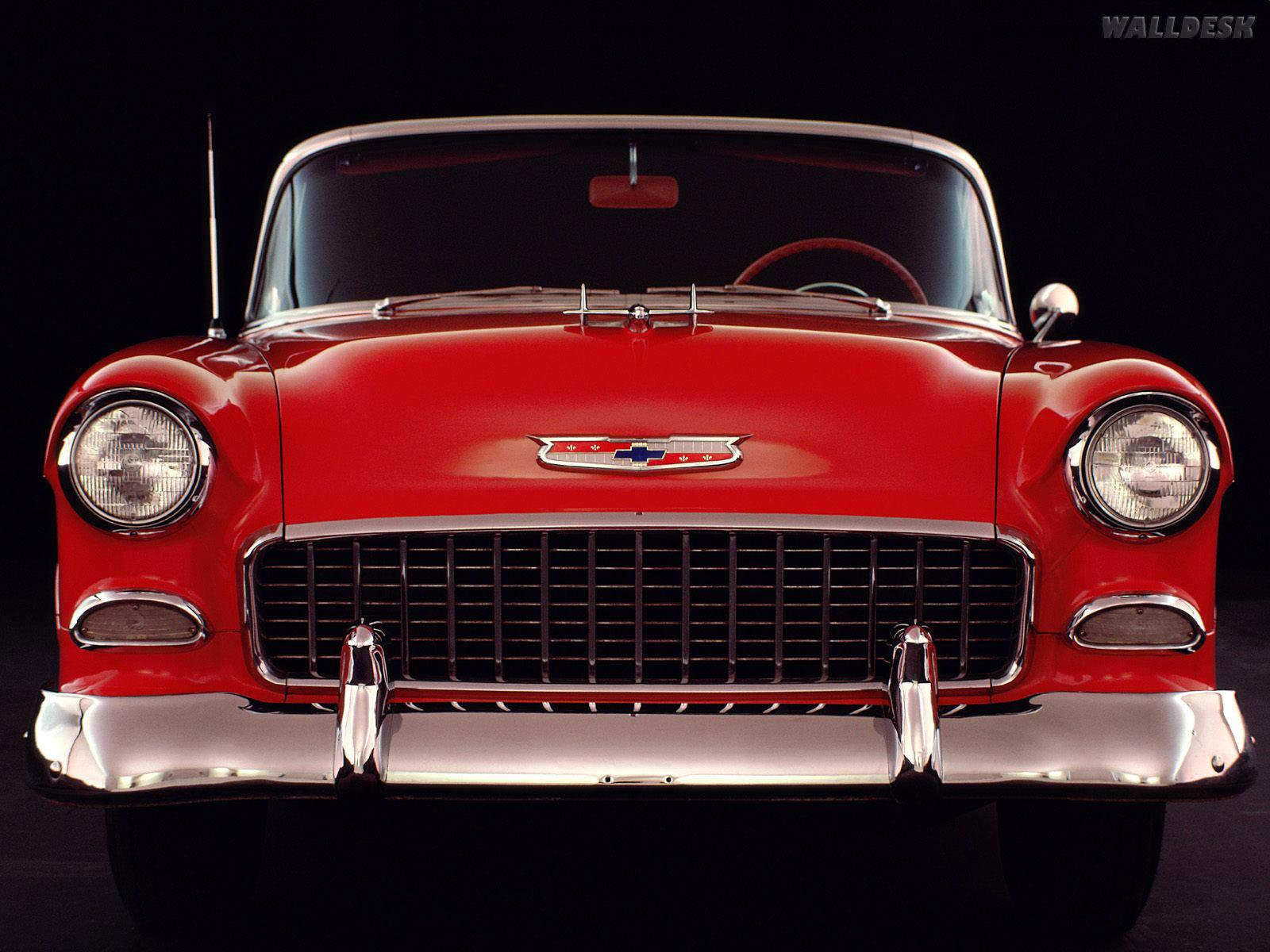 Classico Americano Da Chevrolet Em 1955 Wallpaper 1955 Chevy Bel