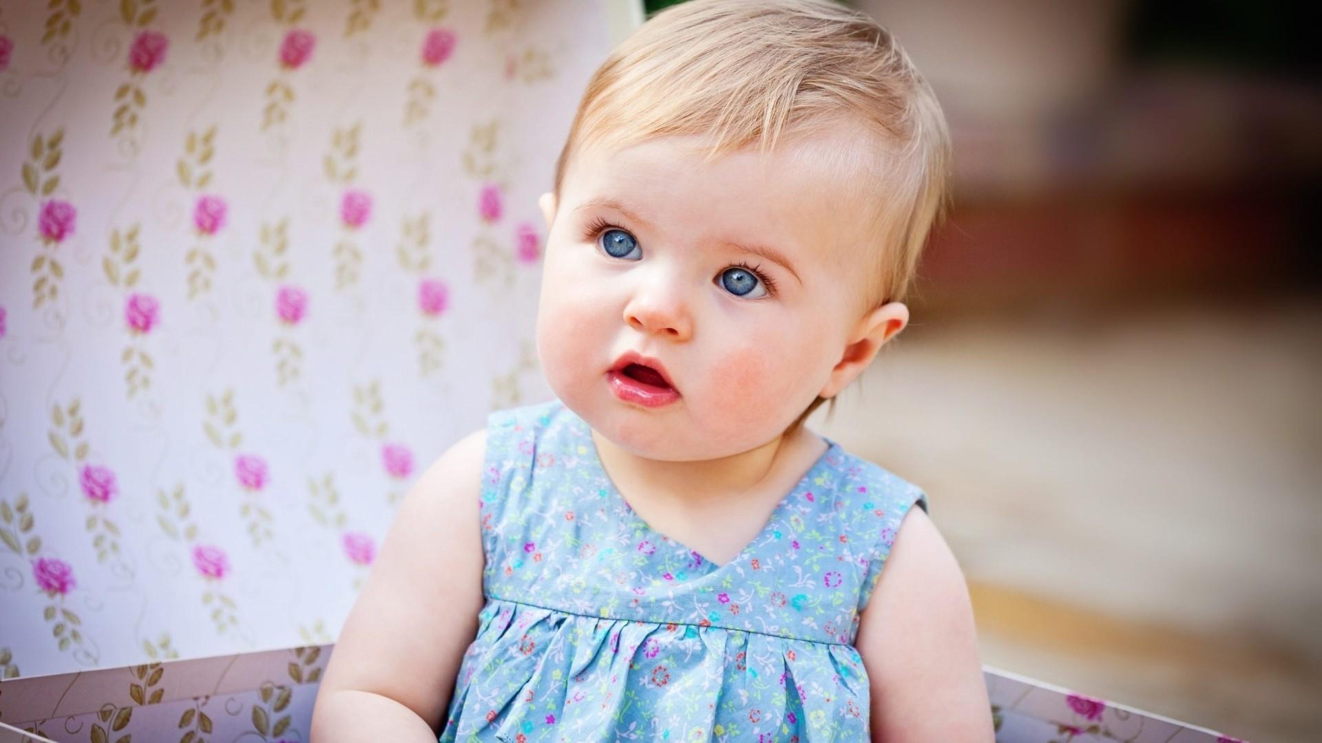 Cute Baby Girl Blue Eyes , HD Wallpaper & Backgrounds