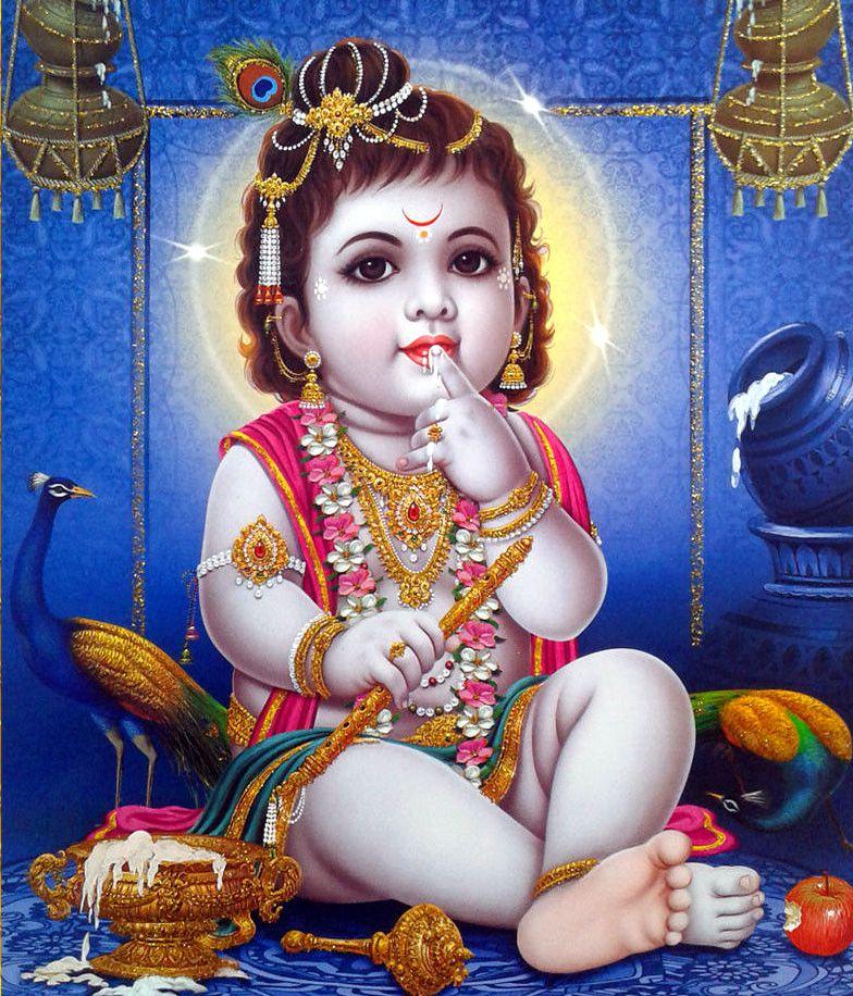 Cute Child Krishna Wallpaper Baby Krishna 625846 Hd