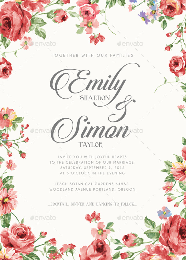 Download4 Floral Wedding Card Designs 626173 Hd