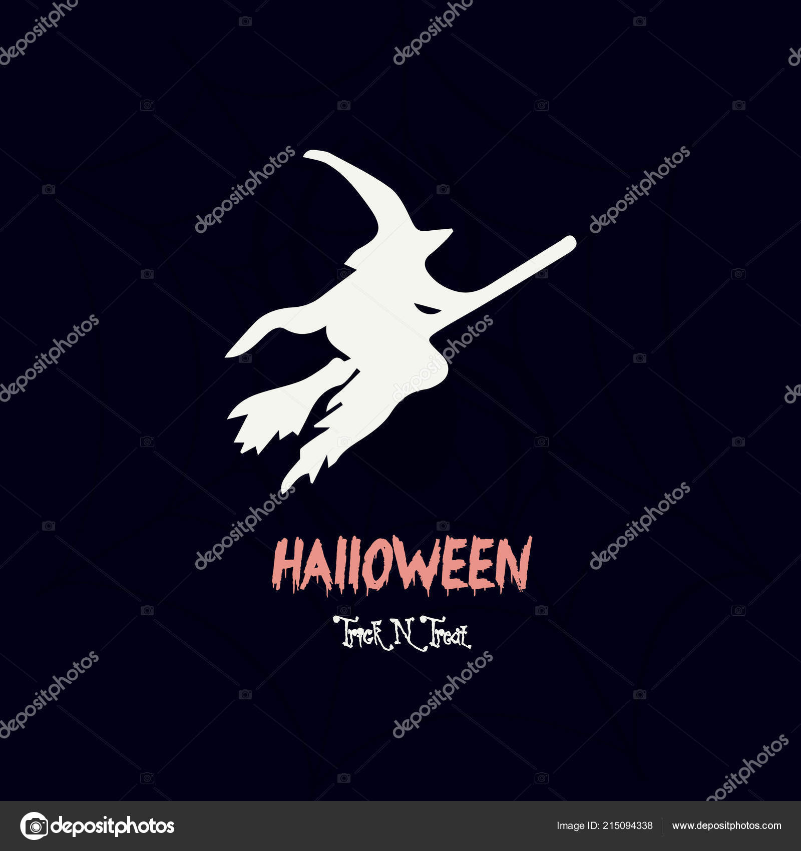 Halloween Poster Wallpaper Invitation Card Design Witch