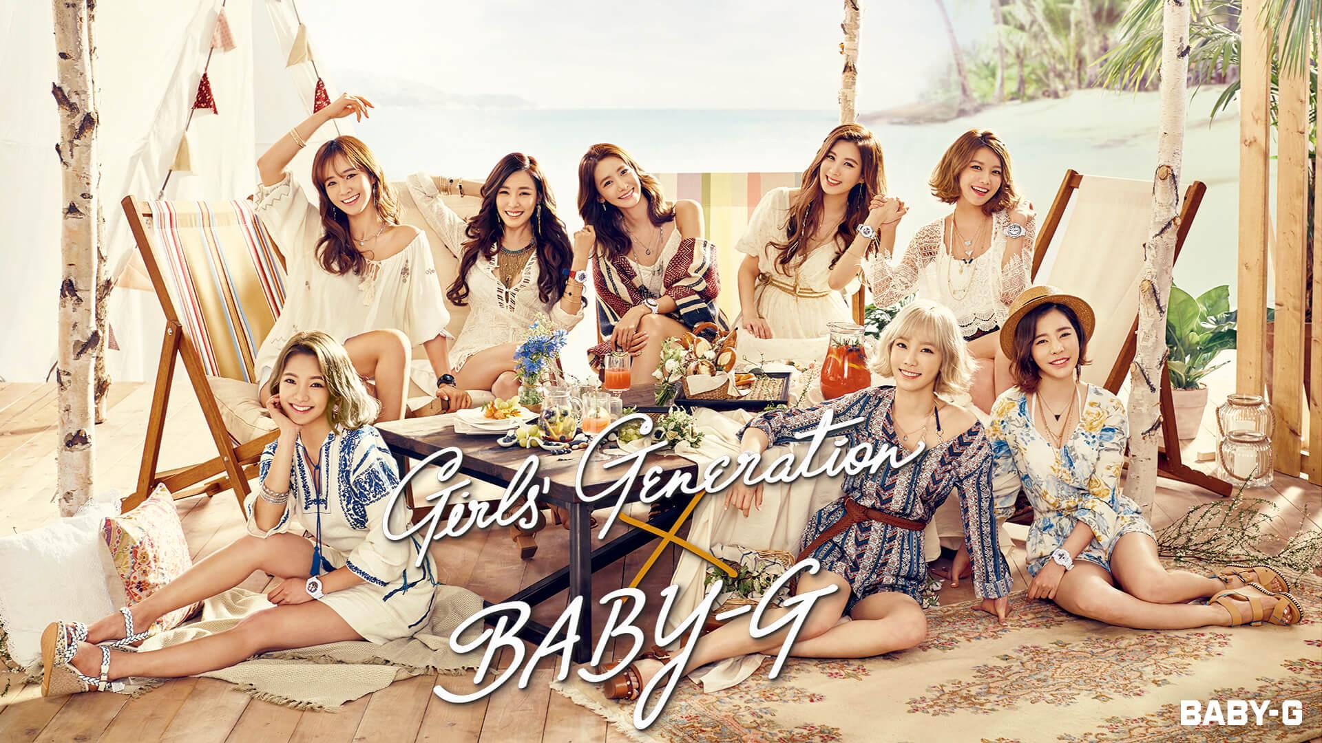 Girls Generation Casio Baby G Summer 2016 Wallpaper Girls