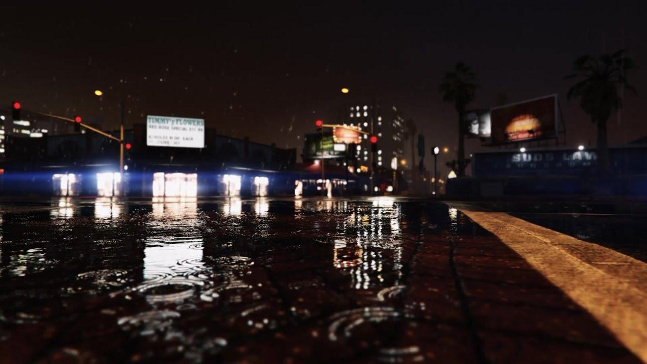 Grand Theft Auto - Gta V Rain , HD Wallpaper & Backgrounds