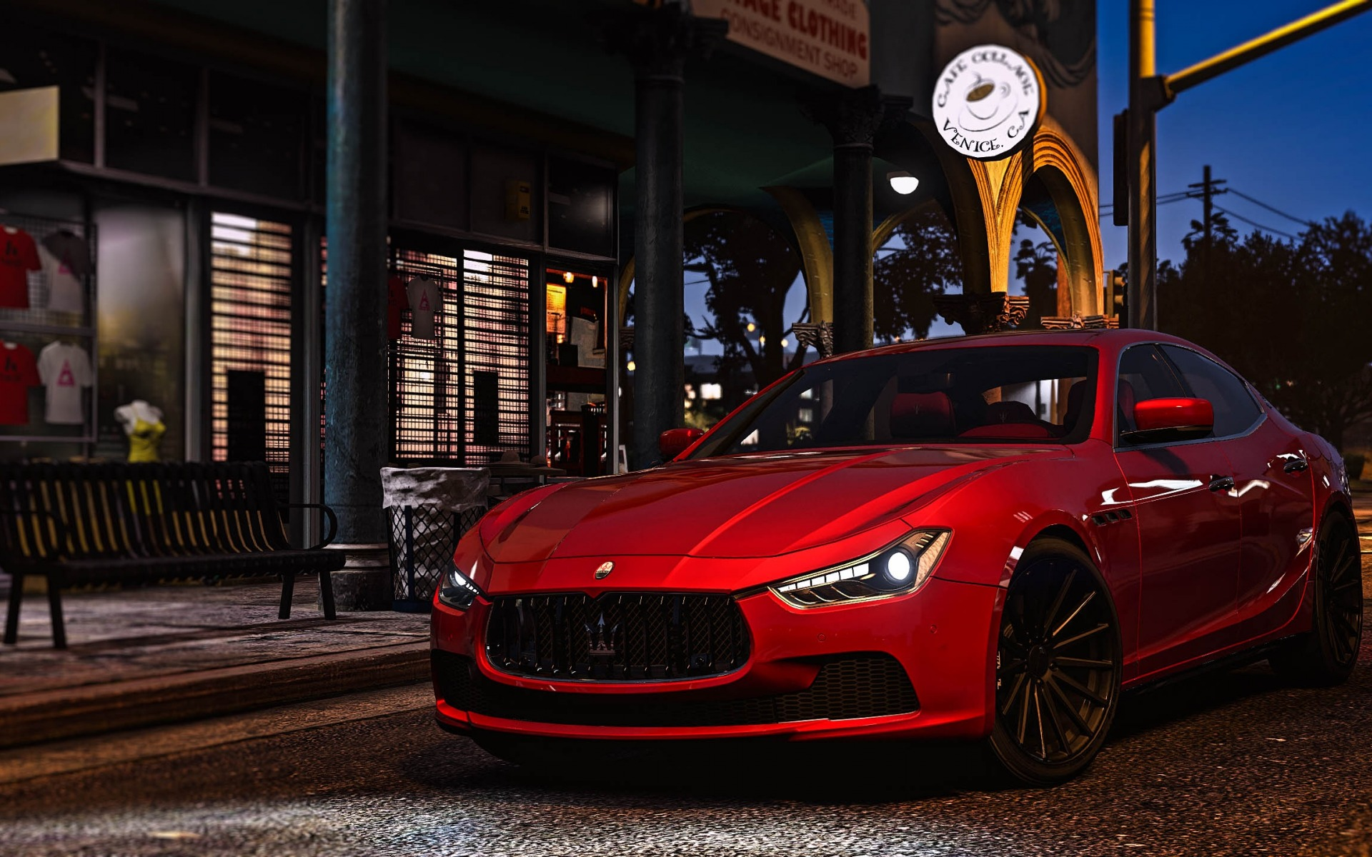 Gta 5, Maserati Ghibli, Grand Theft Auto V, Red Ghibli, - Maserati Gta , HD Wallpaper & Backgrounds