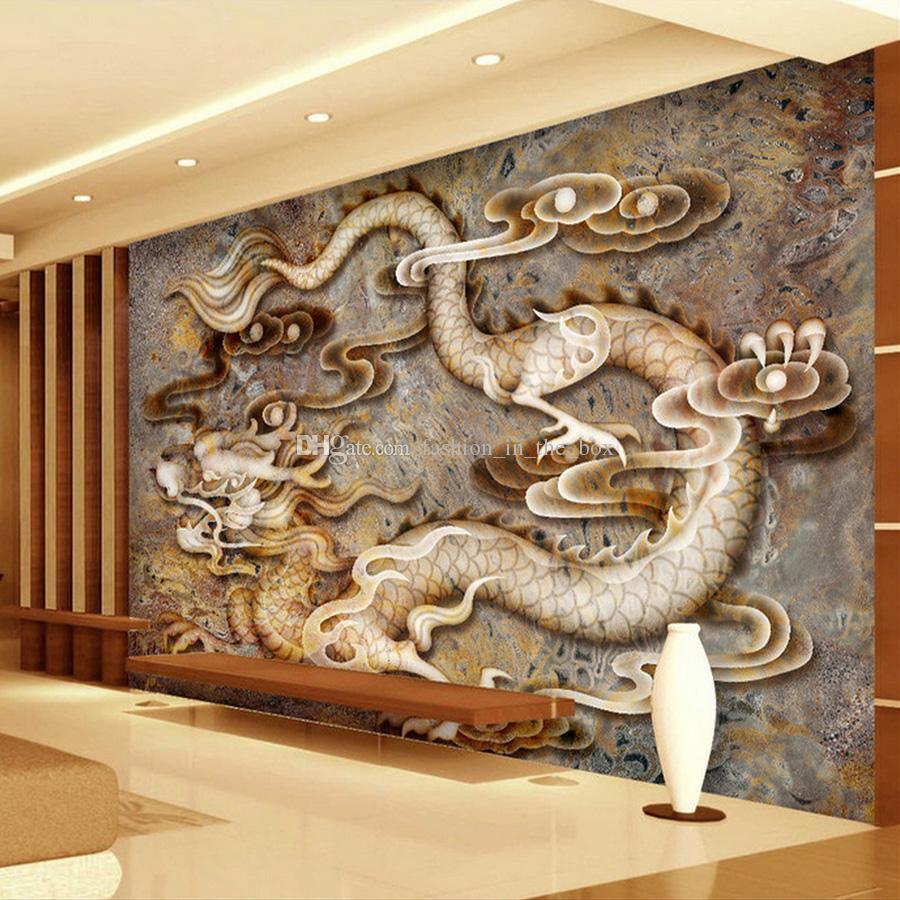 Acquista Carta Da Parati Personalizzata 3d Carta Da Marble Wall Carving Design 636036 Hd Wallpaper Backgrounds Download