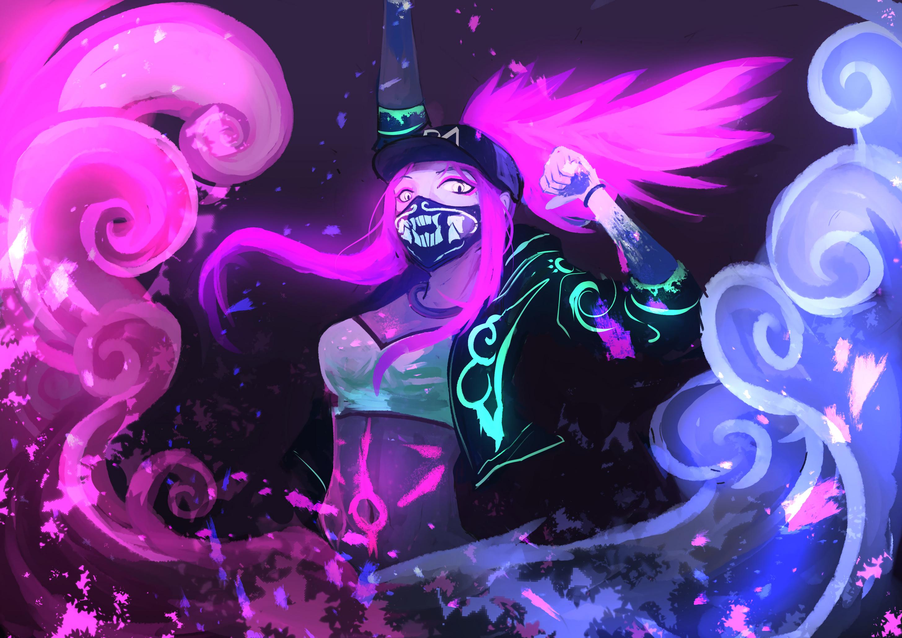 K Da Akali By Yashyuu Hd Wallpaper Background Fan Art Video Game