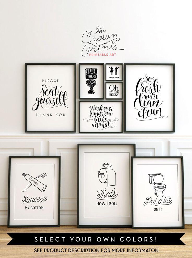 Cloakroom Wall Art The 25 Best Bathroom Wall Art Ideas Bathroom Signs 639659 Hd Wallpaper Backgrounds Download
