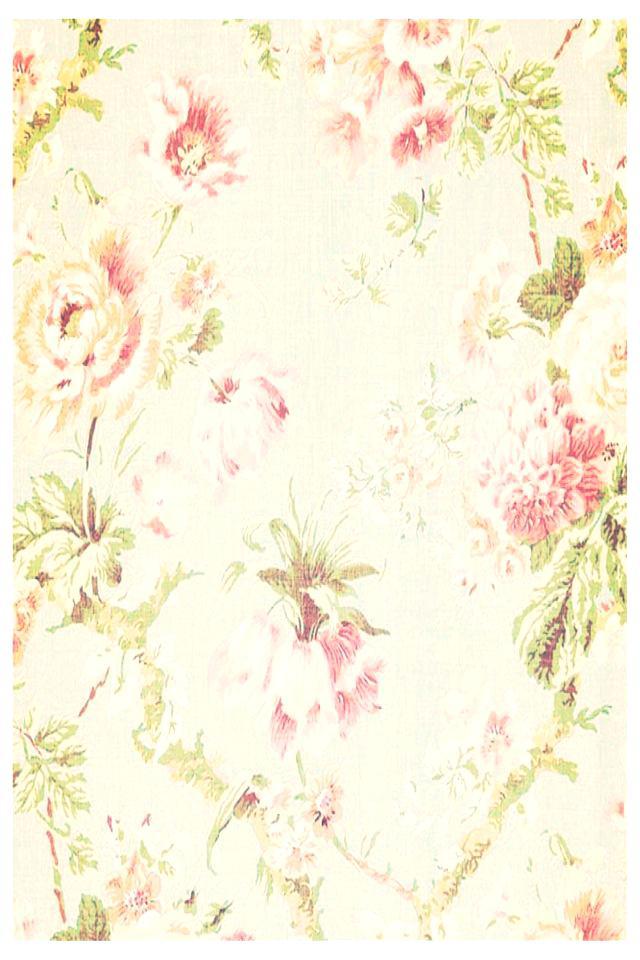 Flower Pattern Wallpaper Ideas About Vintage Flowers - Floral Iphone Wallpaper Birds , HD Wallpaper & Backgrounds