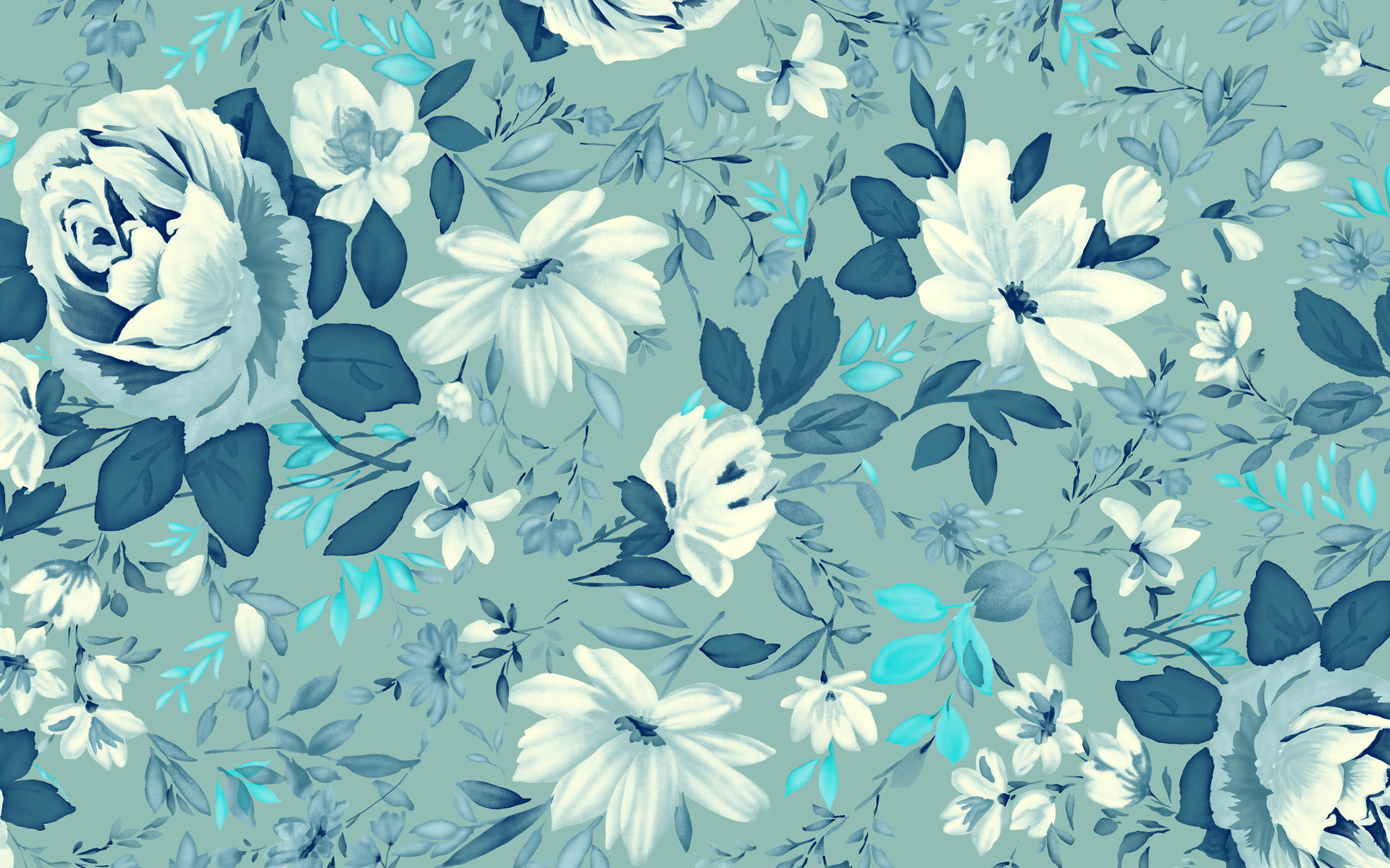 Flower Wallpaper Tumblr, Flower Wallpaper Hd, Roses,retro, - Flowers Wallpaper Vintage Blue , HD Wallpaper & Backgrounds