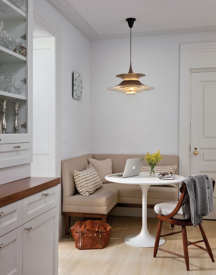 Glamorous Breakfast Nook In Small Kitchen 86 On Wallpaper - Small Kitchen Sitting Area , HD Wallpaper & Backgrounds