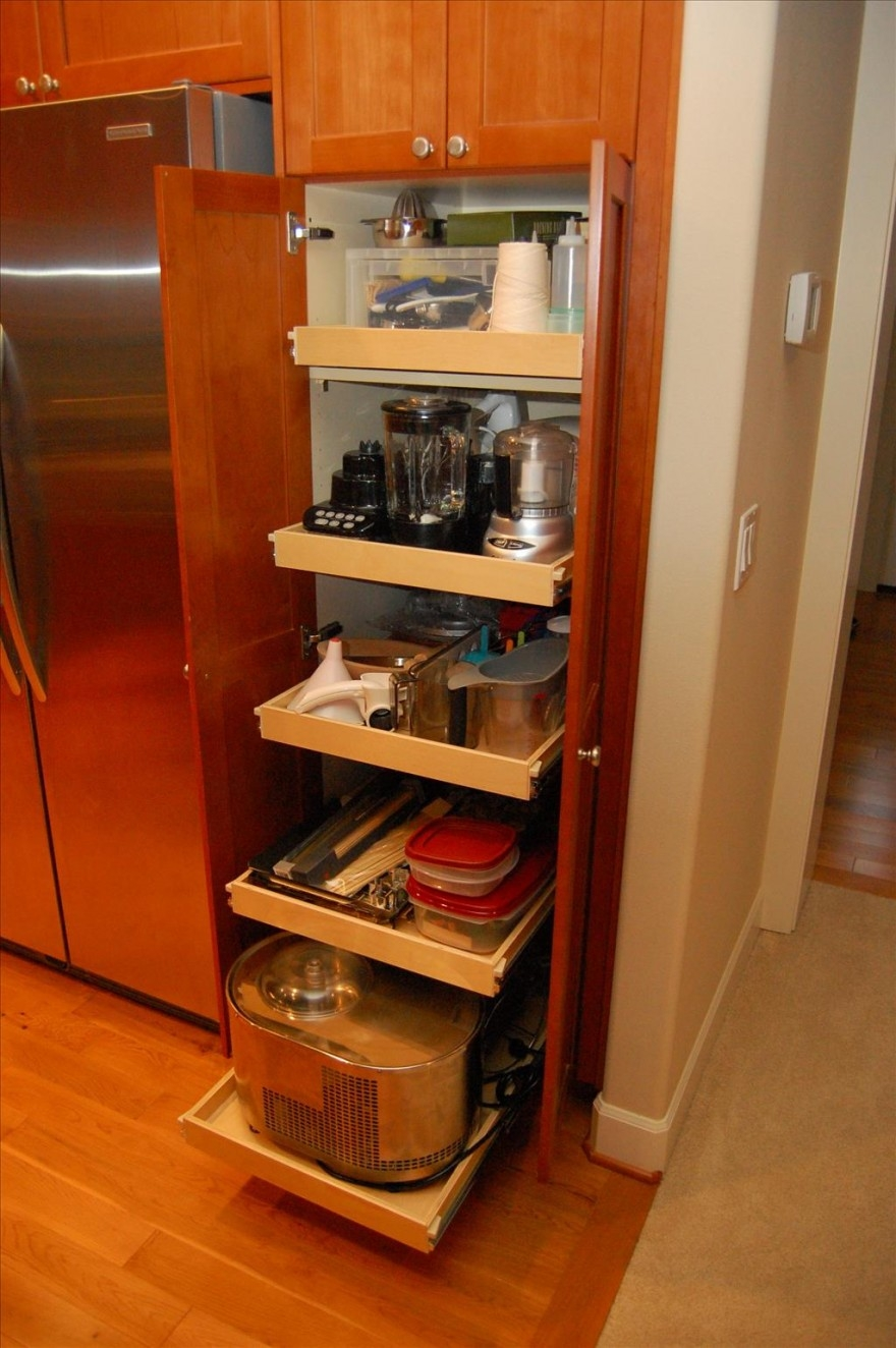 Charming Solid Wood Kitchen Pantry Cabinet Designs Kitchen